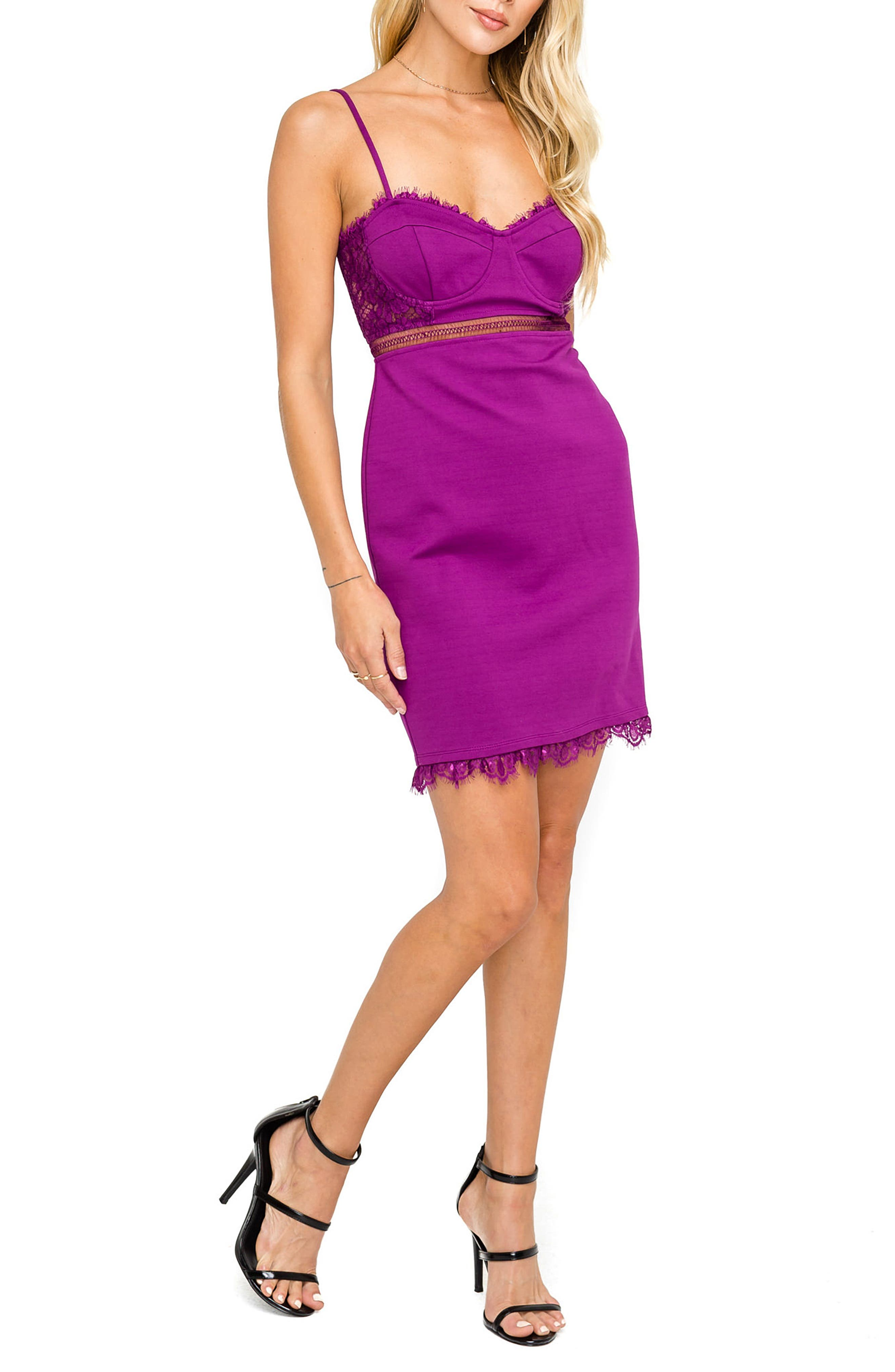 Astr The Label Dream On Dress, Purple