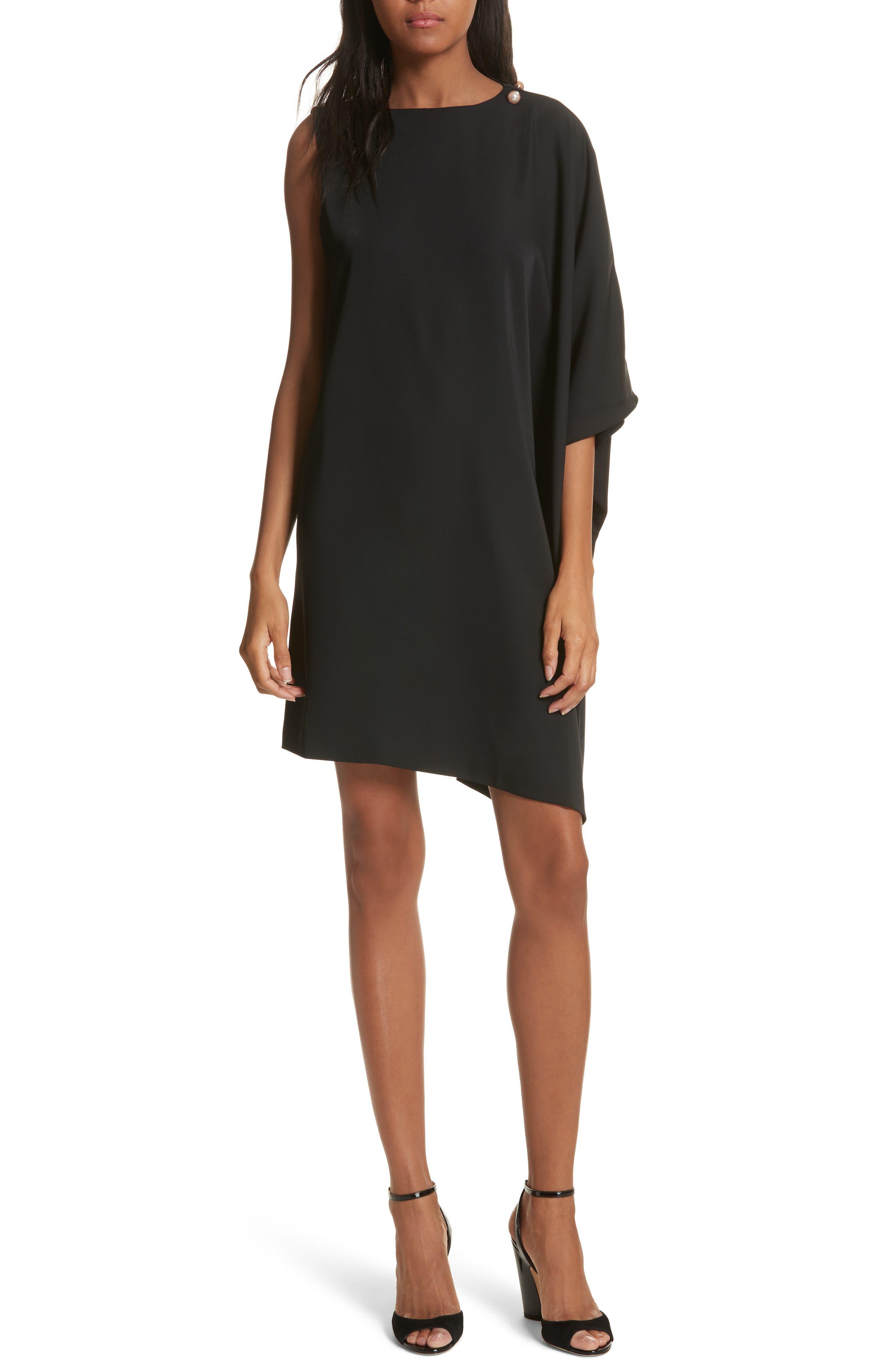Oversize Drape Front Dress,                             Main thumbnail 1, color,                             001