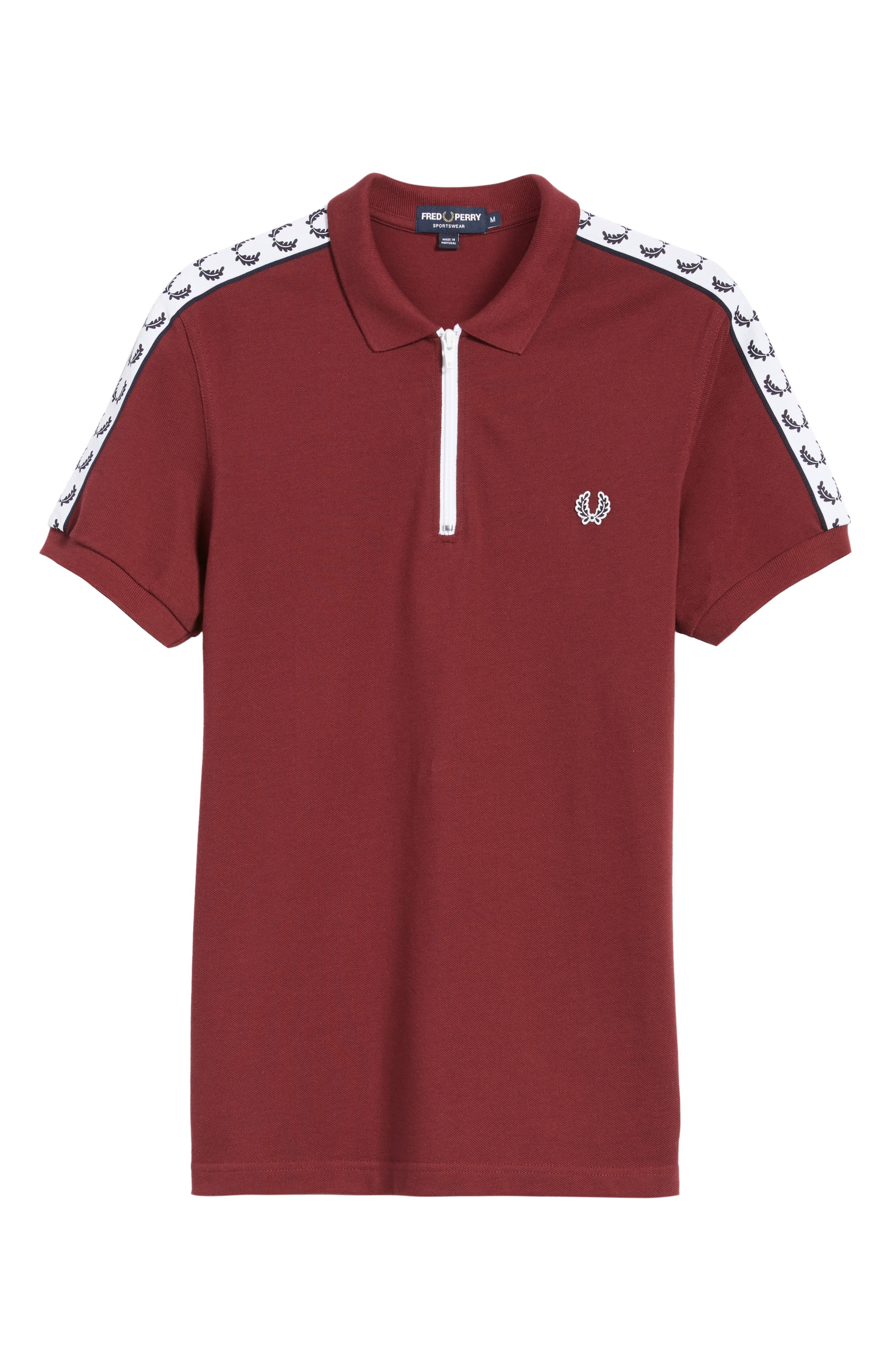 Taped Zip Polo,                             Alternate thumbnail 6, color,                             572