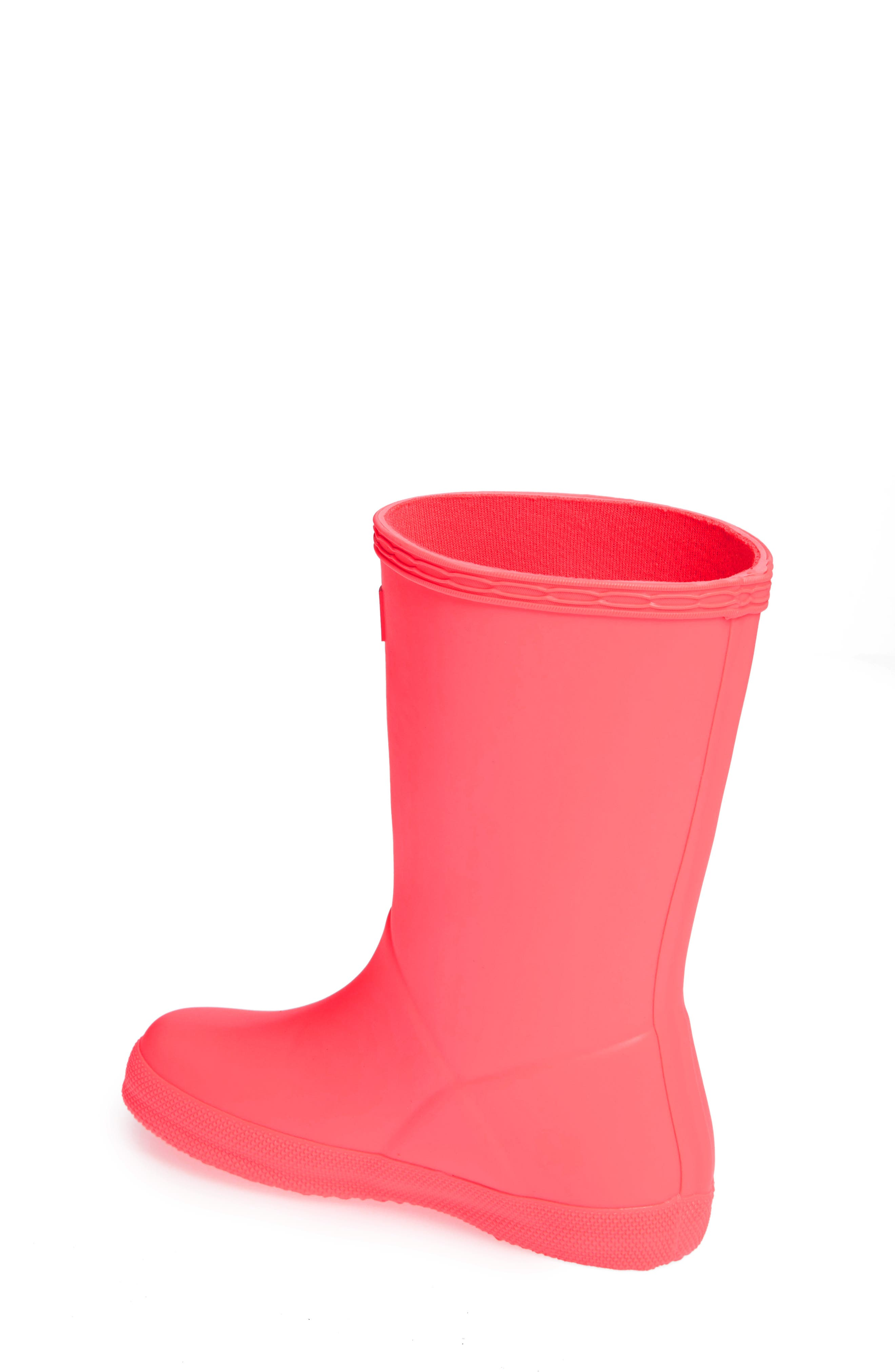 First Classic Rain Boot,                             Alternate thumbnail 2, color,                             HYPER PINK