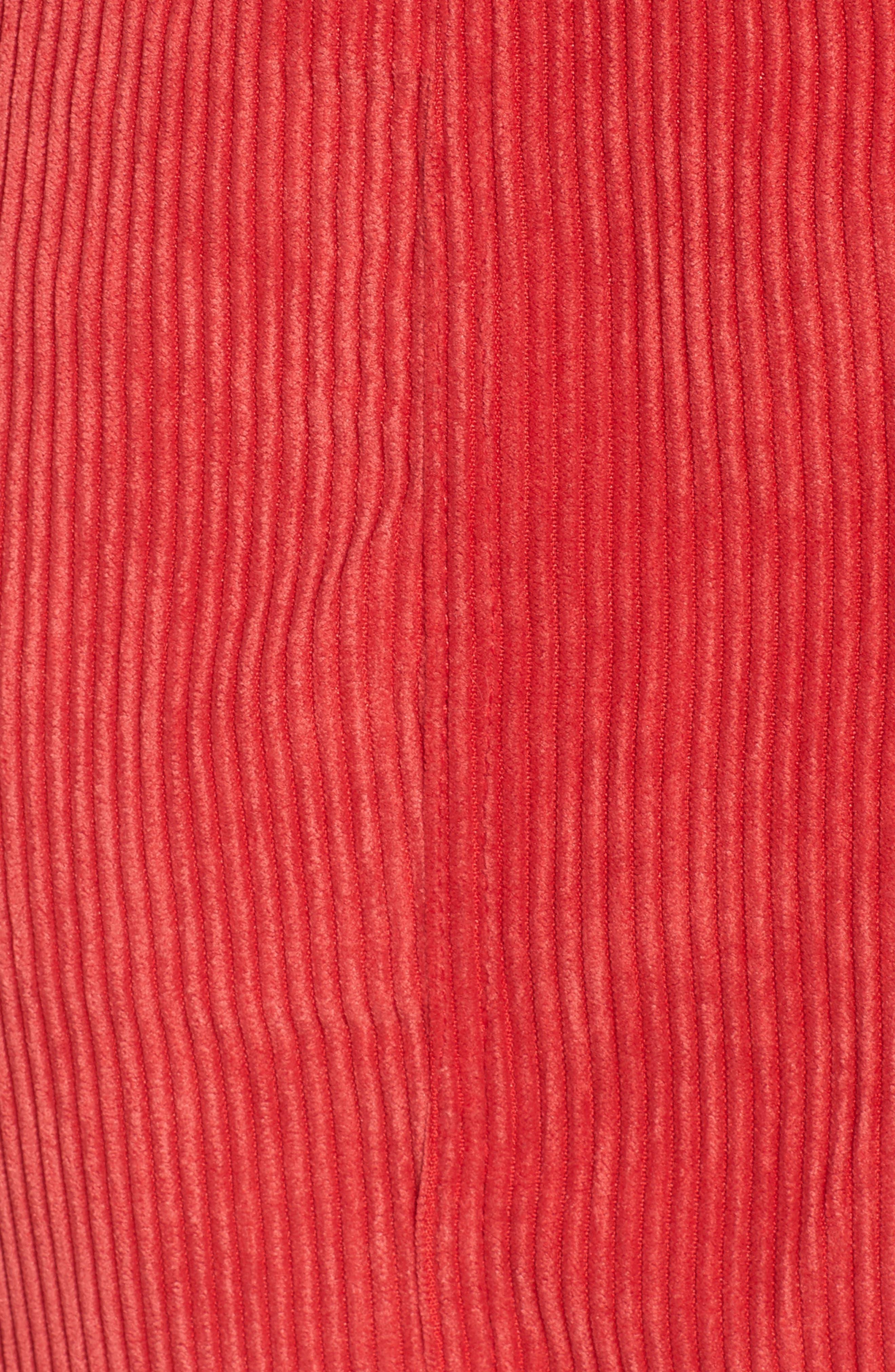 Button Front Corduroy Dress,                             Alternate thumbnail 5, color,                             621