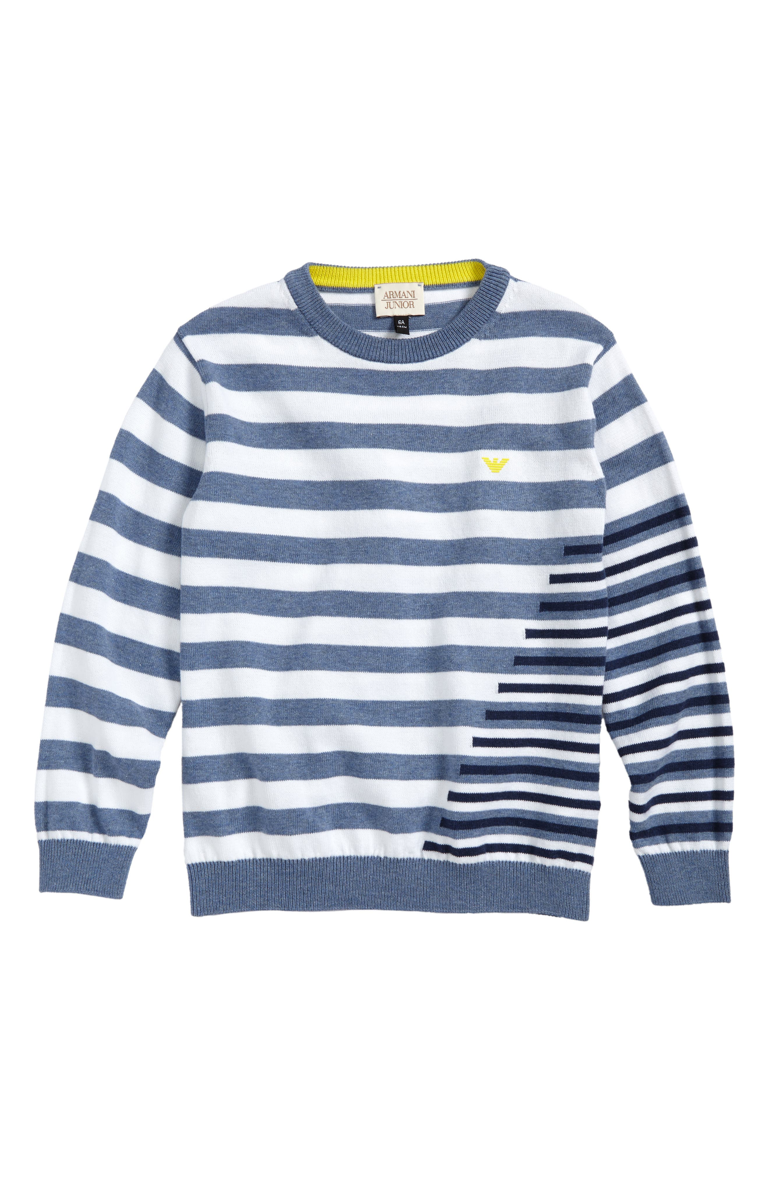 Stripe Cotton Sweater,                             Main thumbnail 1, color,                             154