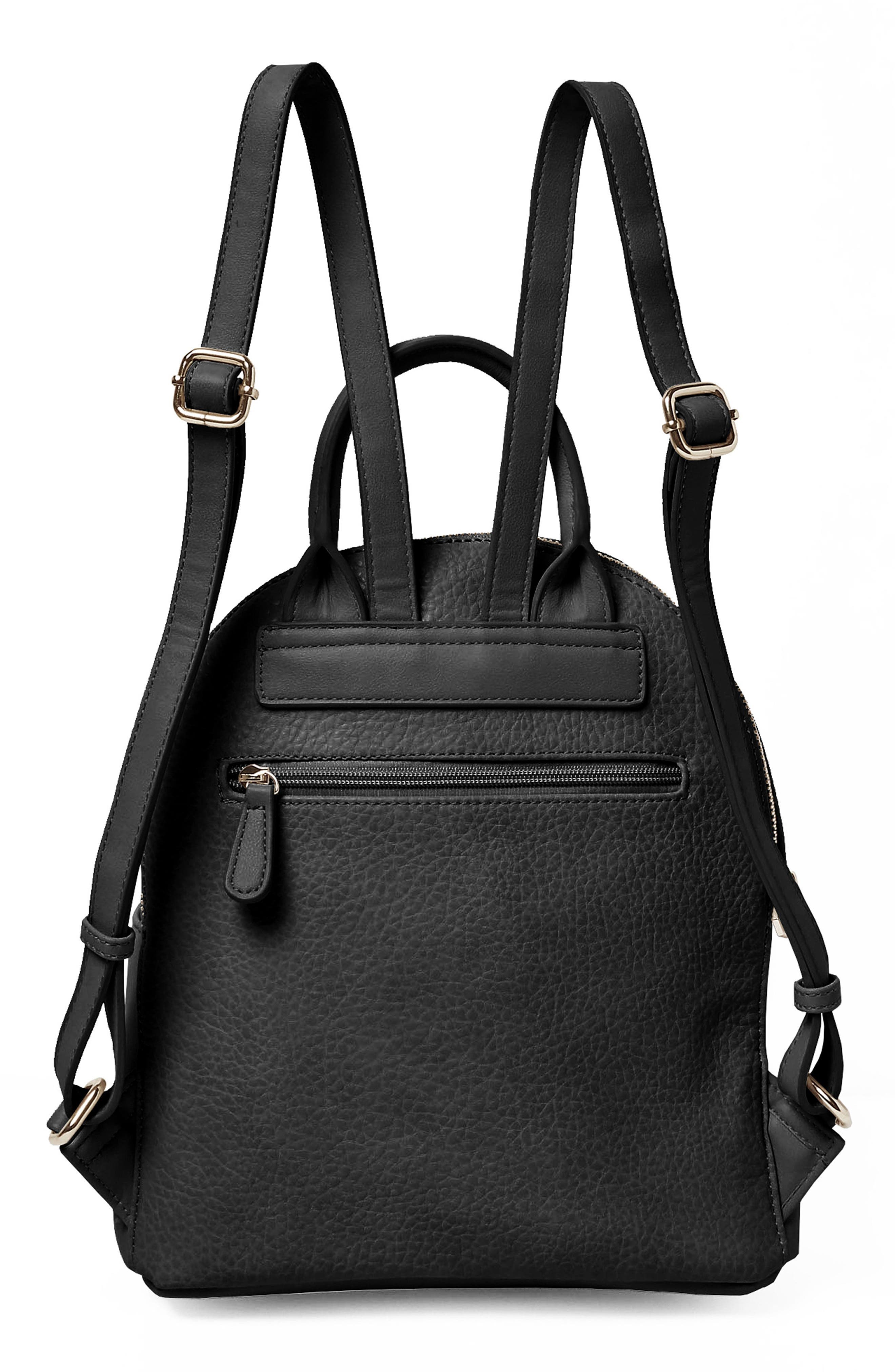 Into the Night Vegan Leather Backpack,                             Alternate thumbnail 4, color,