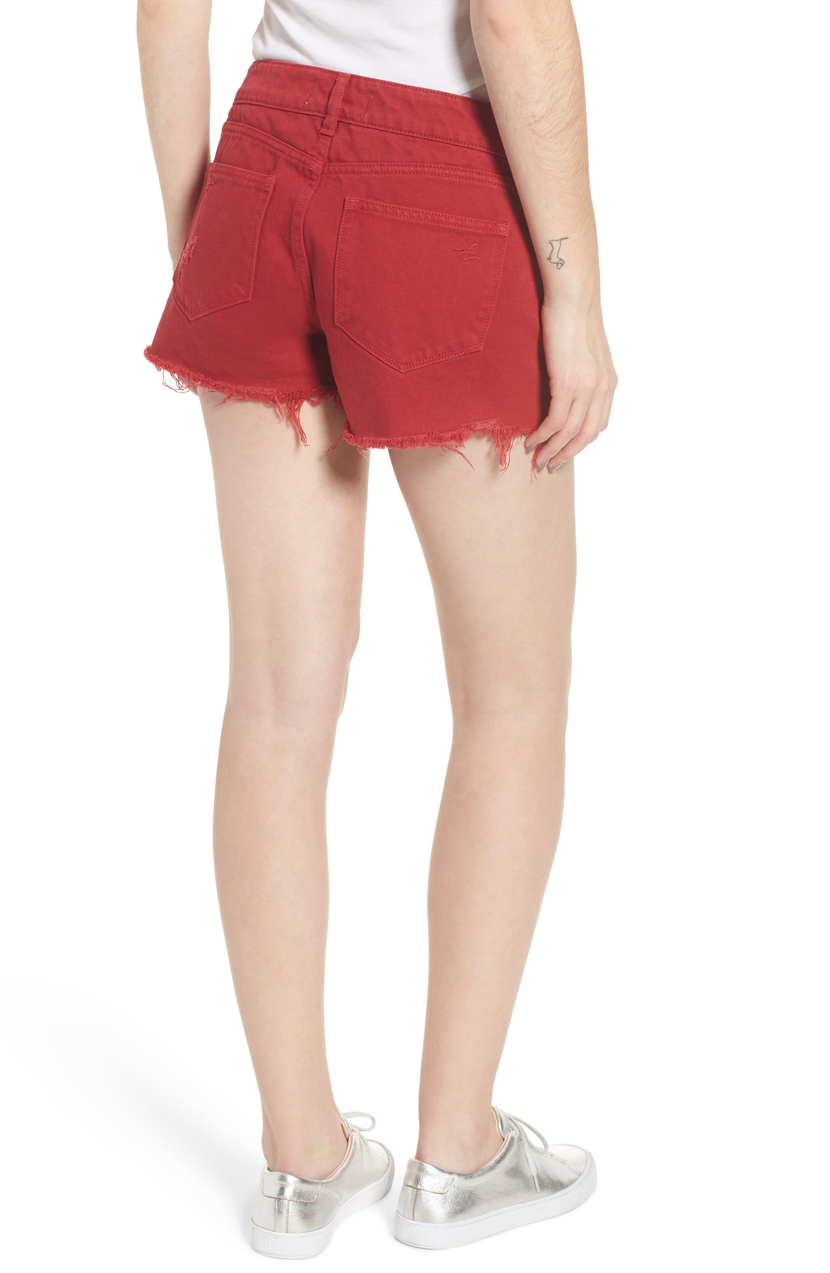 Renee Cutoff Denim Shorts,                             Alternate thumbnail 2, color,                             600