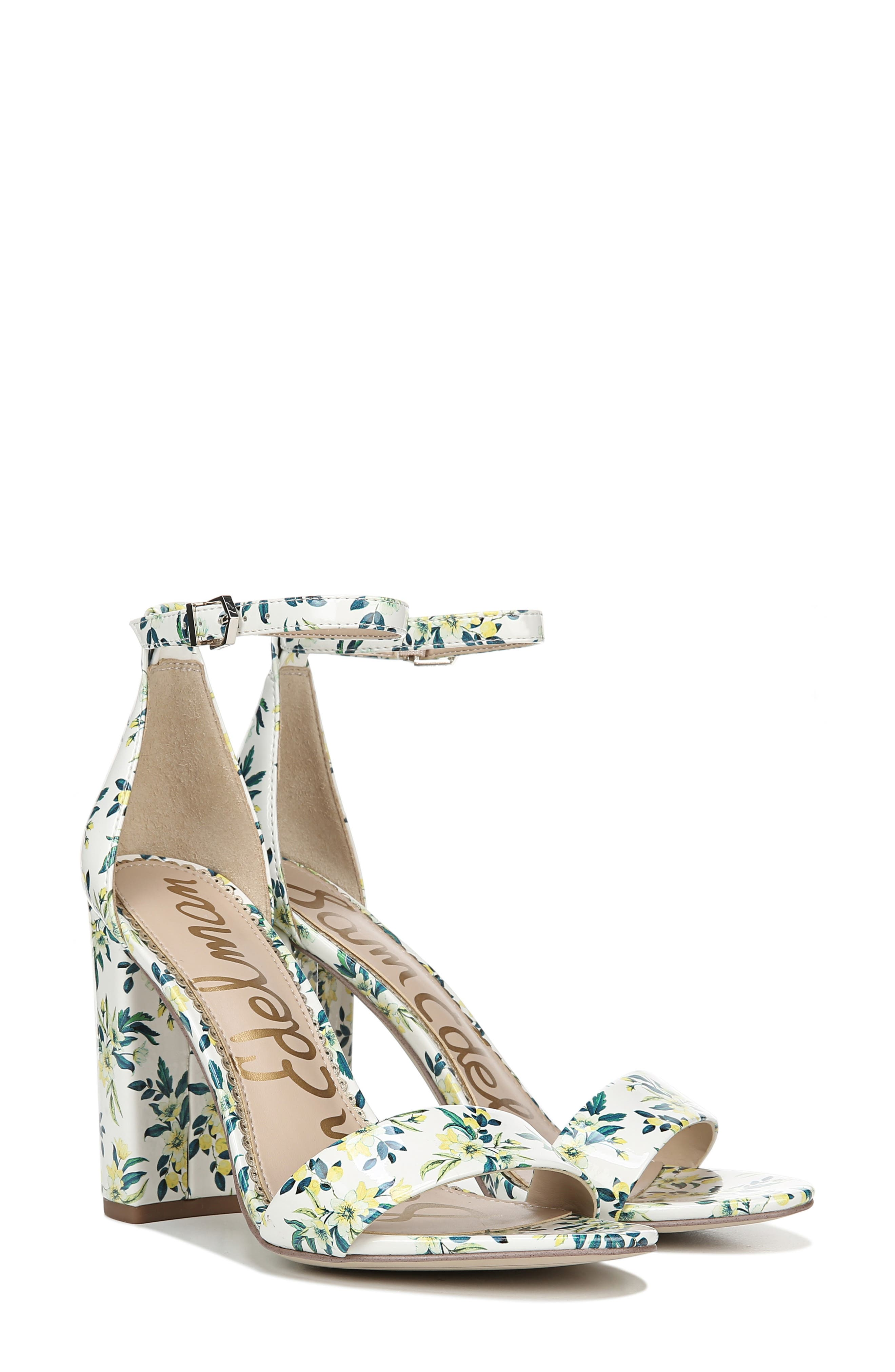 Yaro Ankle Strap Sandal,                             Alternate thumbnail 8, color,                             WHITE MULTI FABRIC