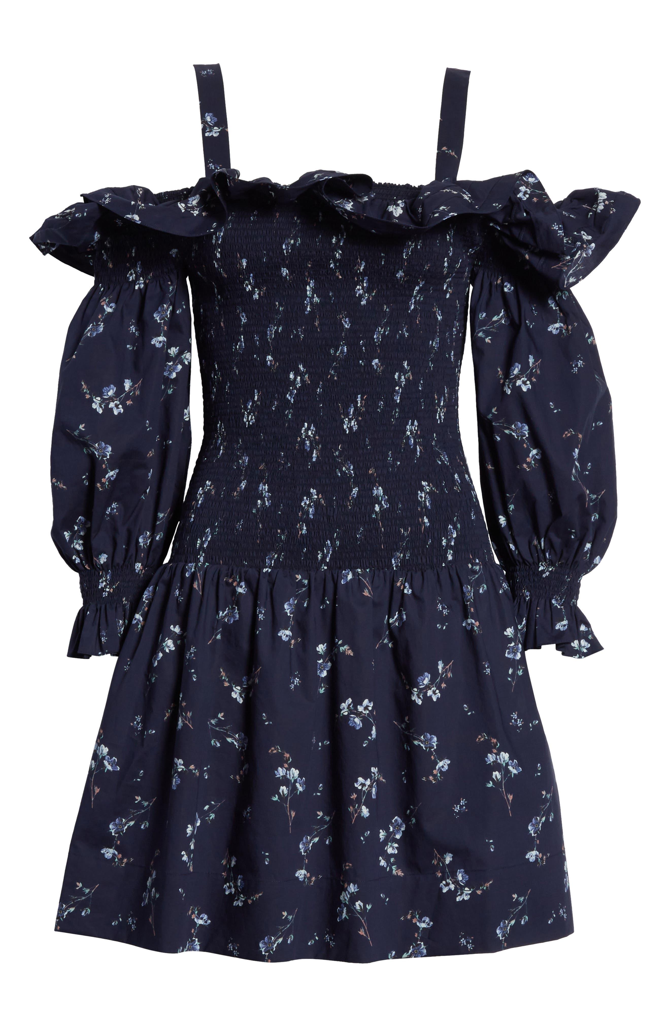 Francine Cold Shoulder Dress,                             Alternate thumbnail 6, color,