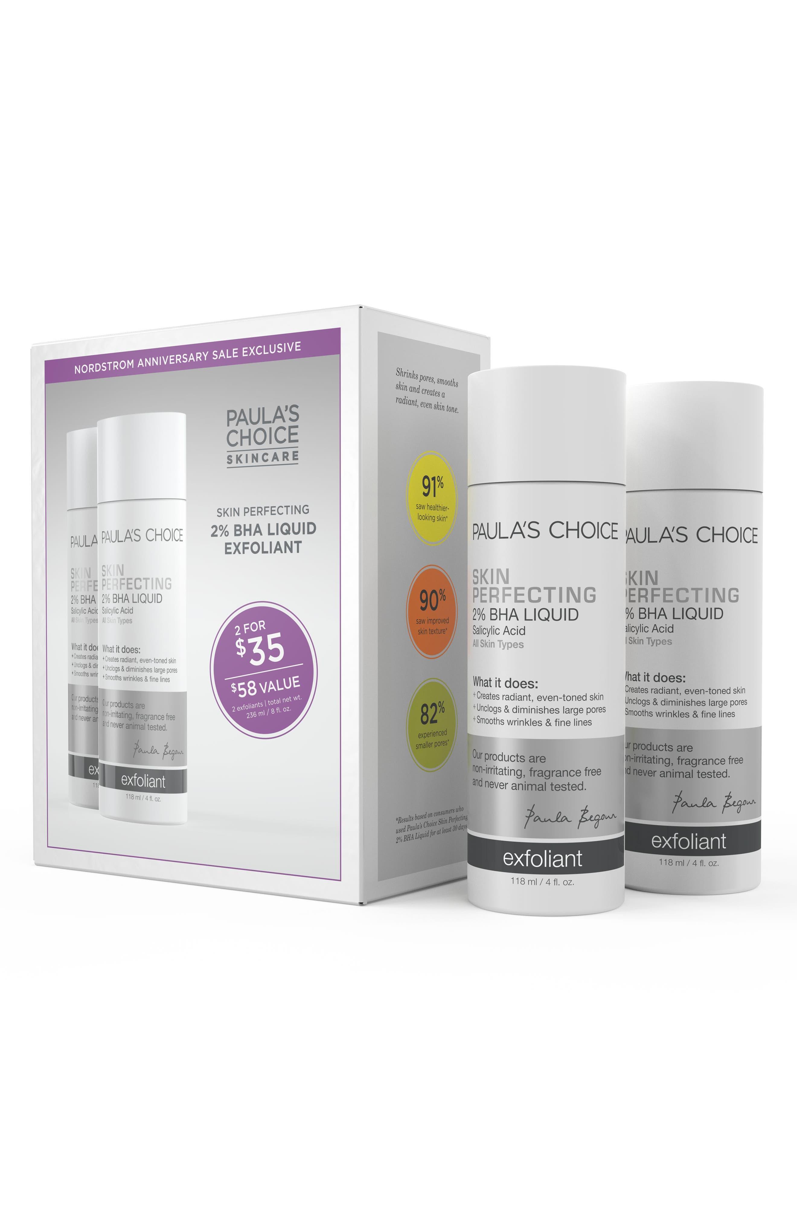 Skin Perfecting 2% BHA Liquid Exfoliant Duo,                             Alternate thumbnail 2, color,                             000