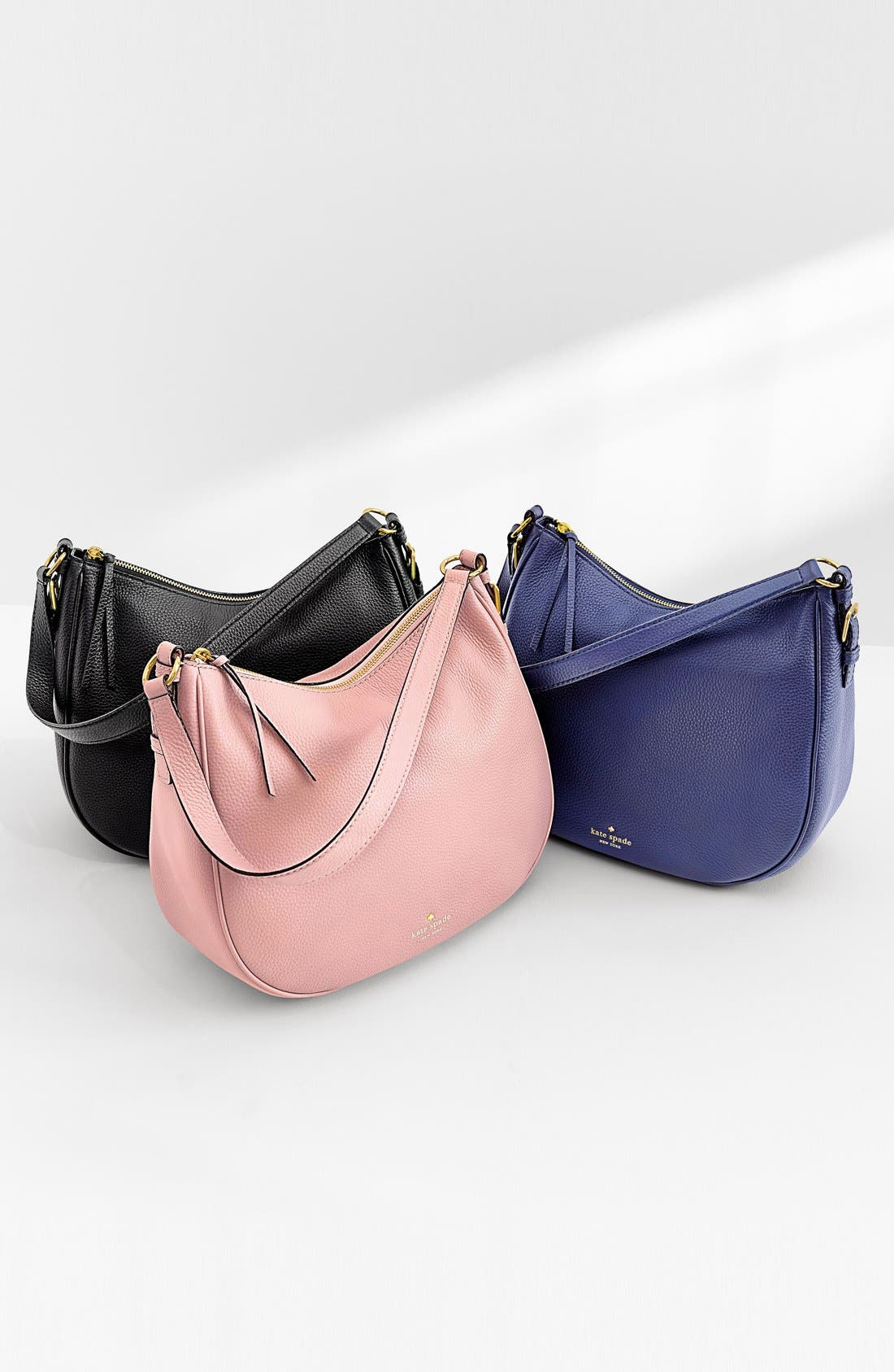 cobble hill mylie leather hobo,                             Alternate thumbnail 6, color,                             001