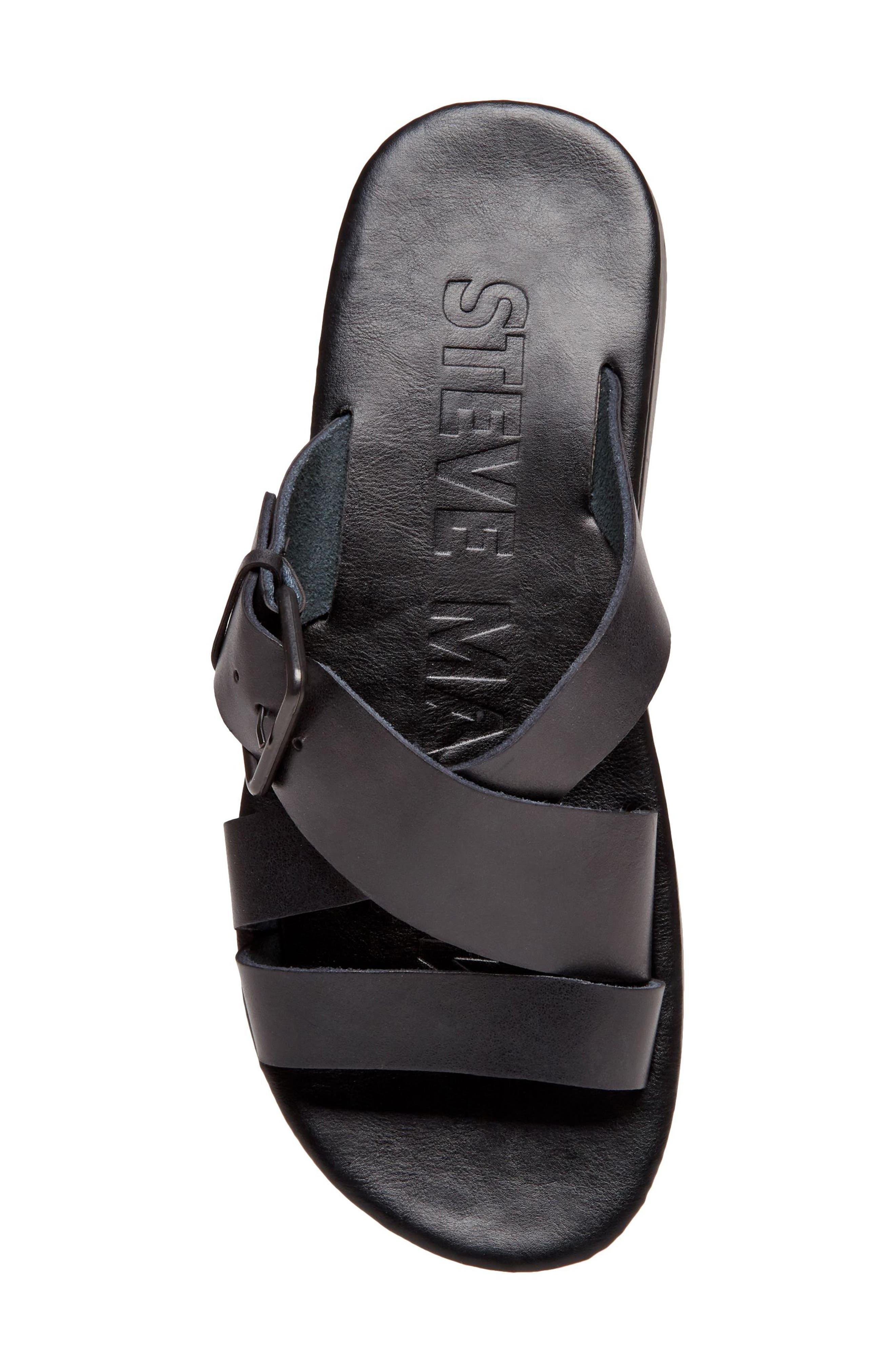 Suspense Buckled Slide Sandal,                             Alternate thumbnail 5, color,                             001