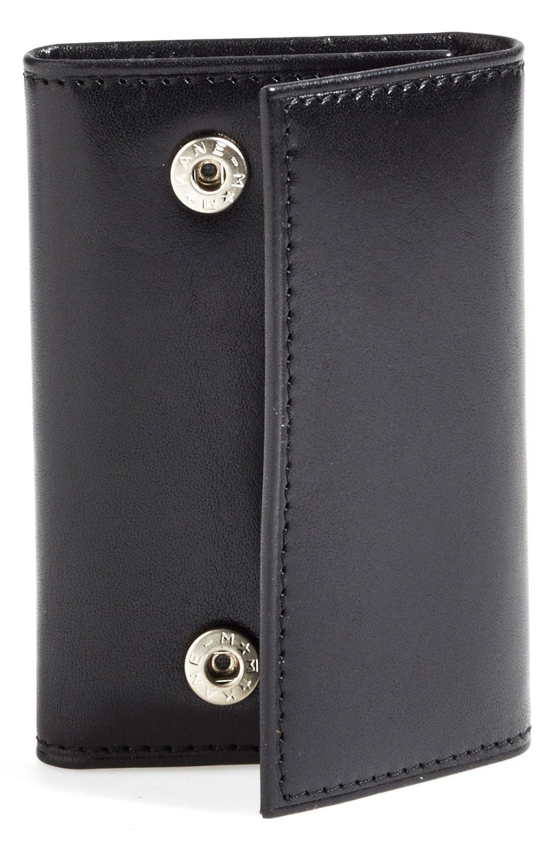 'Old Leather' Key Case, Main, color, 001