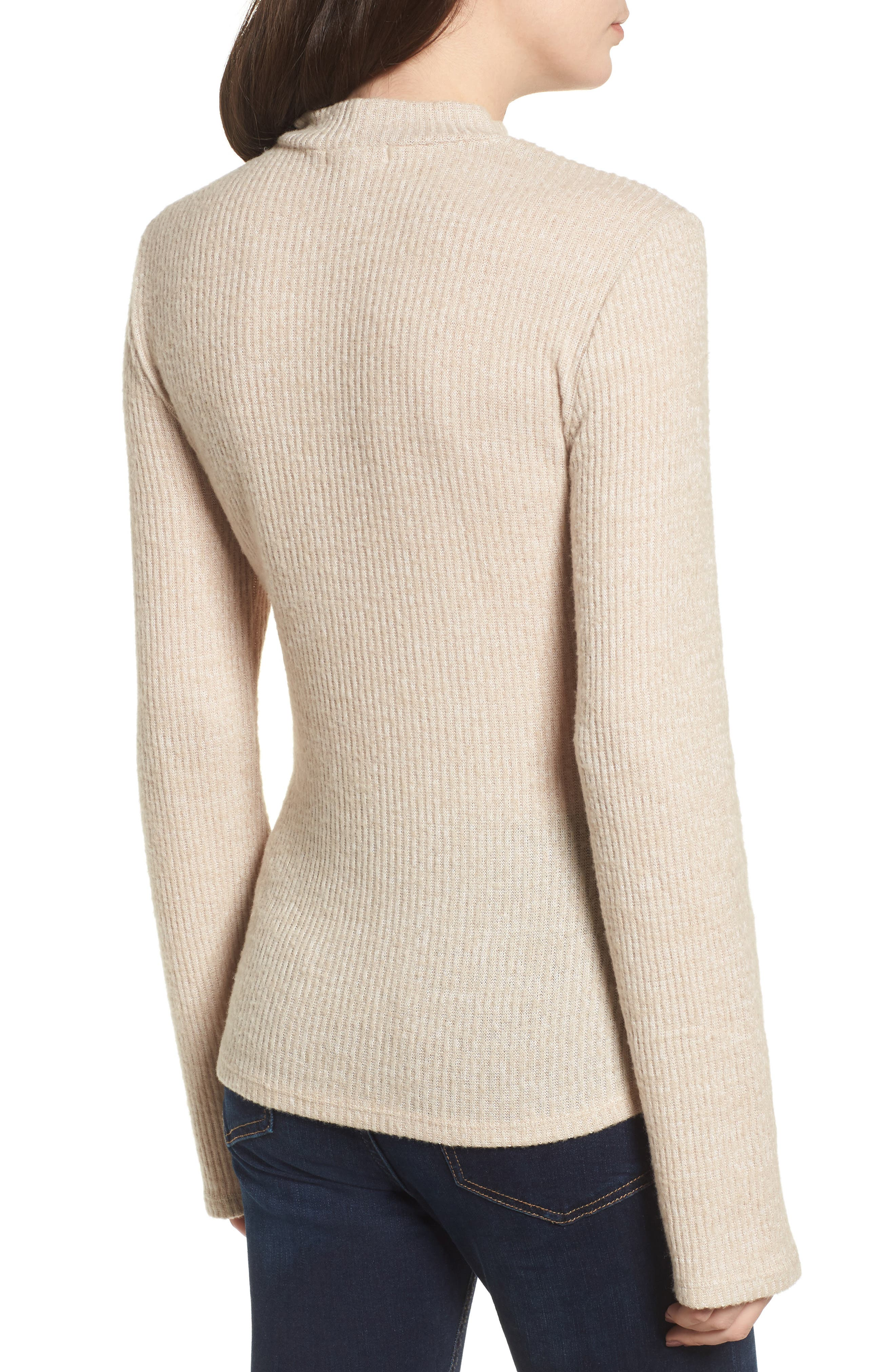 Rib Knit Corset Top,                             Alternate thumbnail 2, color,                             900
