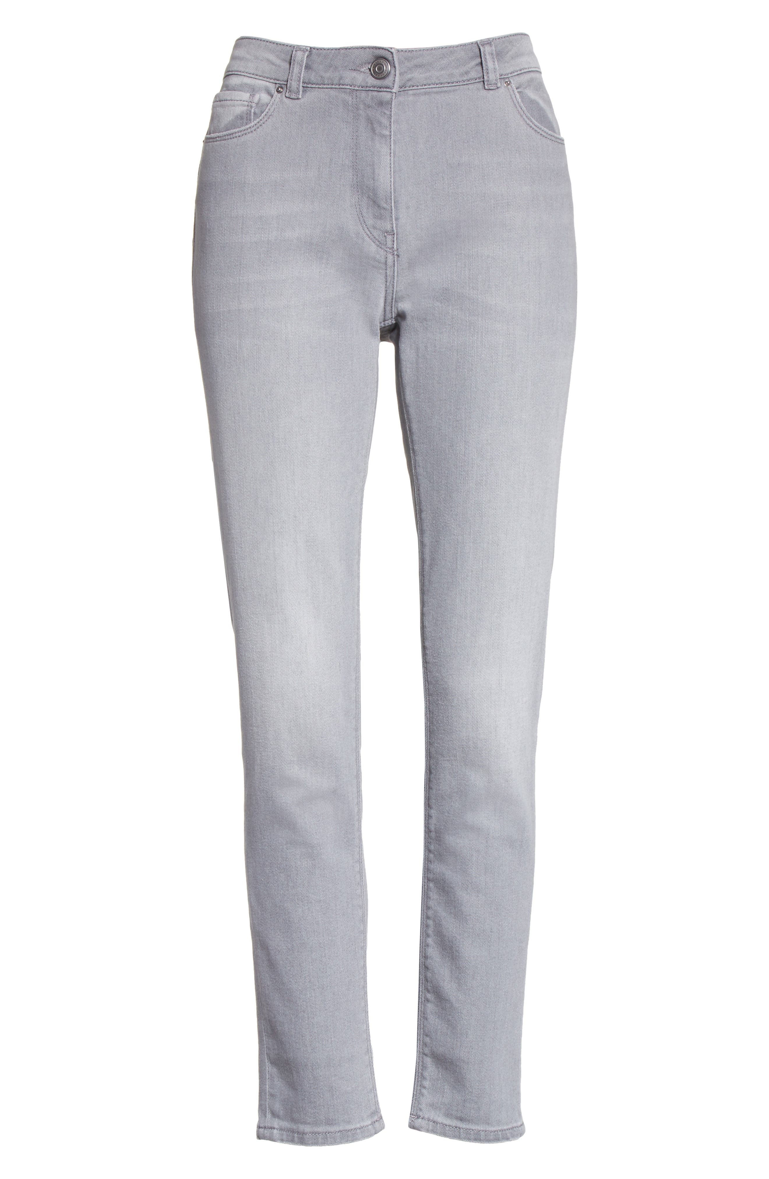 Stretch Skinny Jeans,                             Alternate thumbnail 6, color,                             020