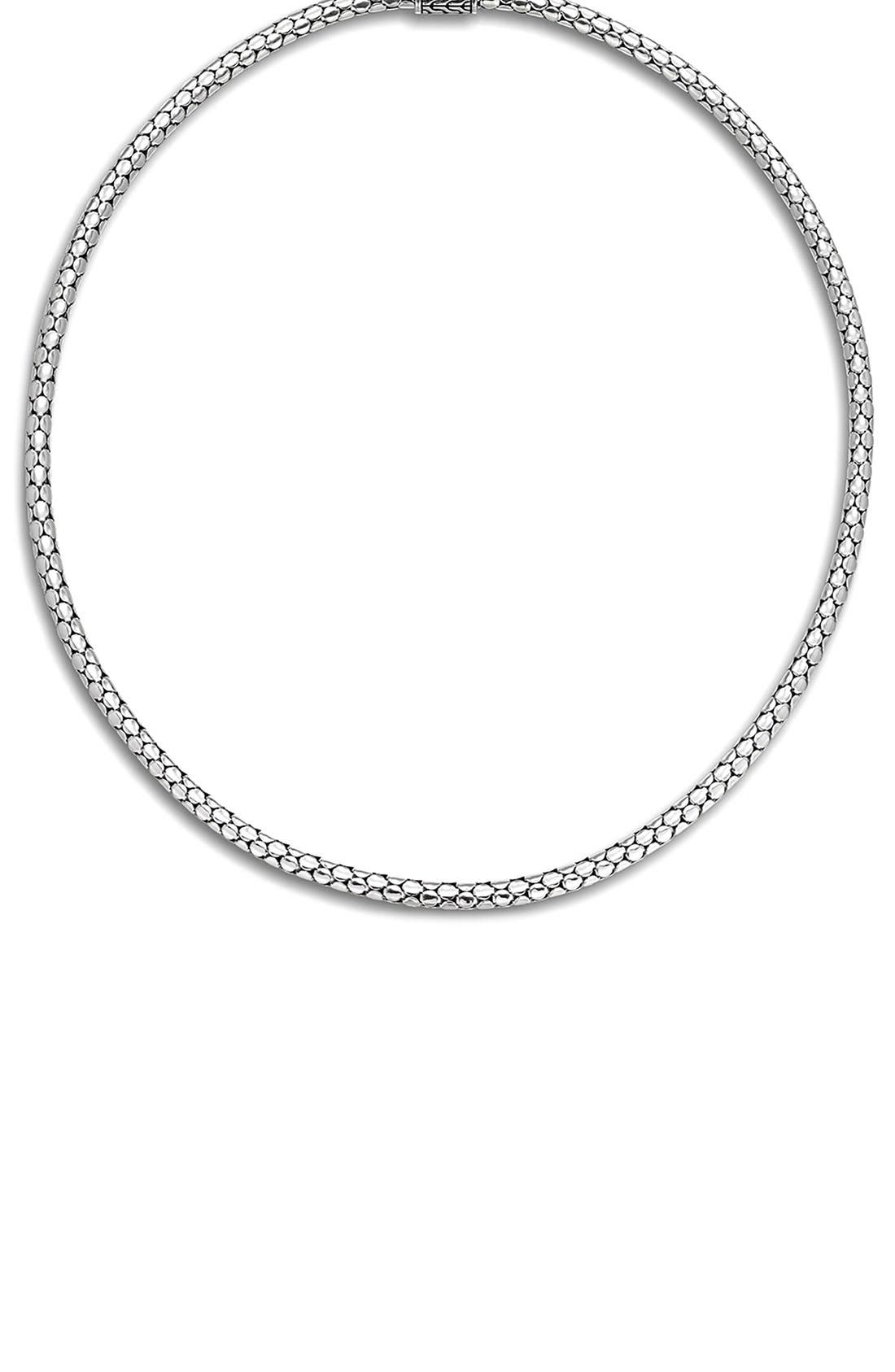 Dot Chain Necklace,                         Main,                         color, SILVER