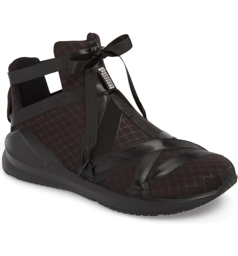 f409a424250b12 PUMA Fierce Rope Satin En Pointe High Top Sneaker (Women)