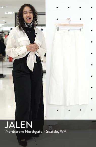 Pleated Wide Leg Linen & Cotton Pants, sales video thumbnail