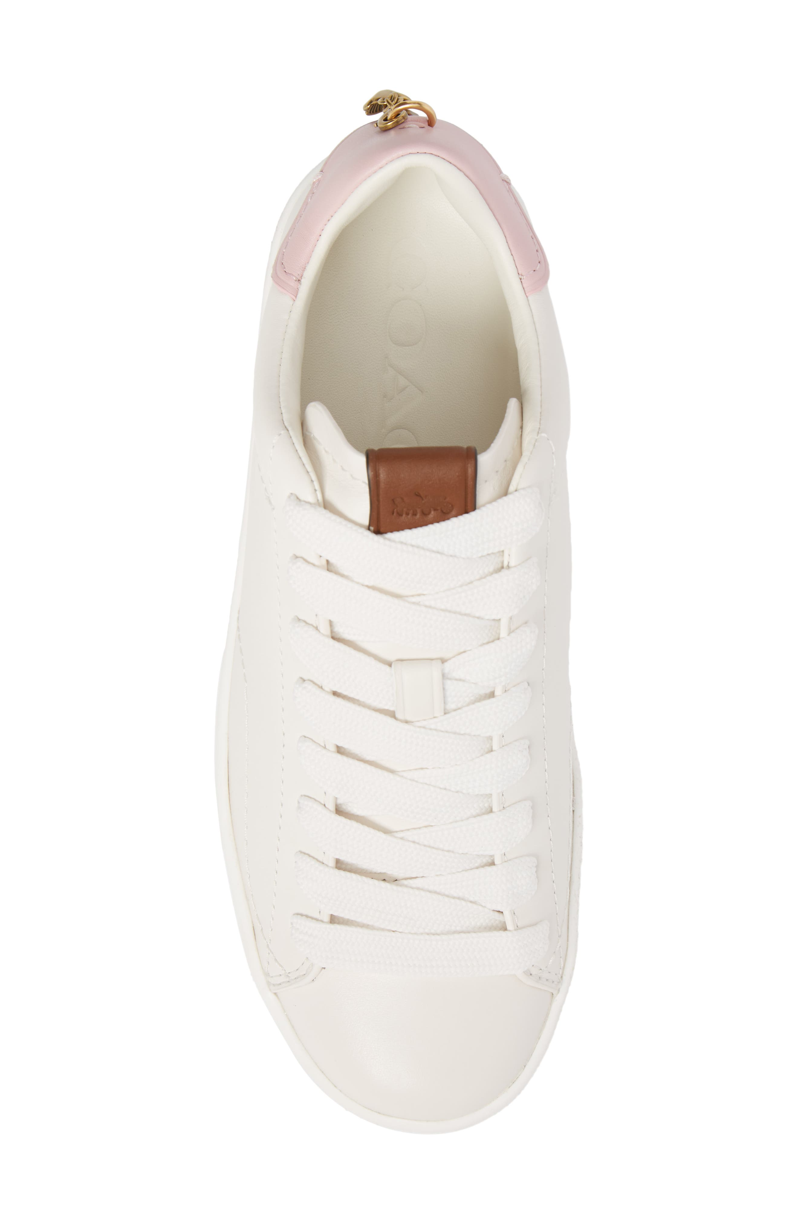 Sneaker,                             Alternate thumbnail 5, color,                             WHITE/ PETAL LEATHER