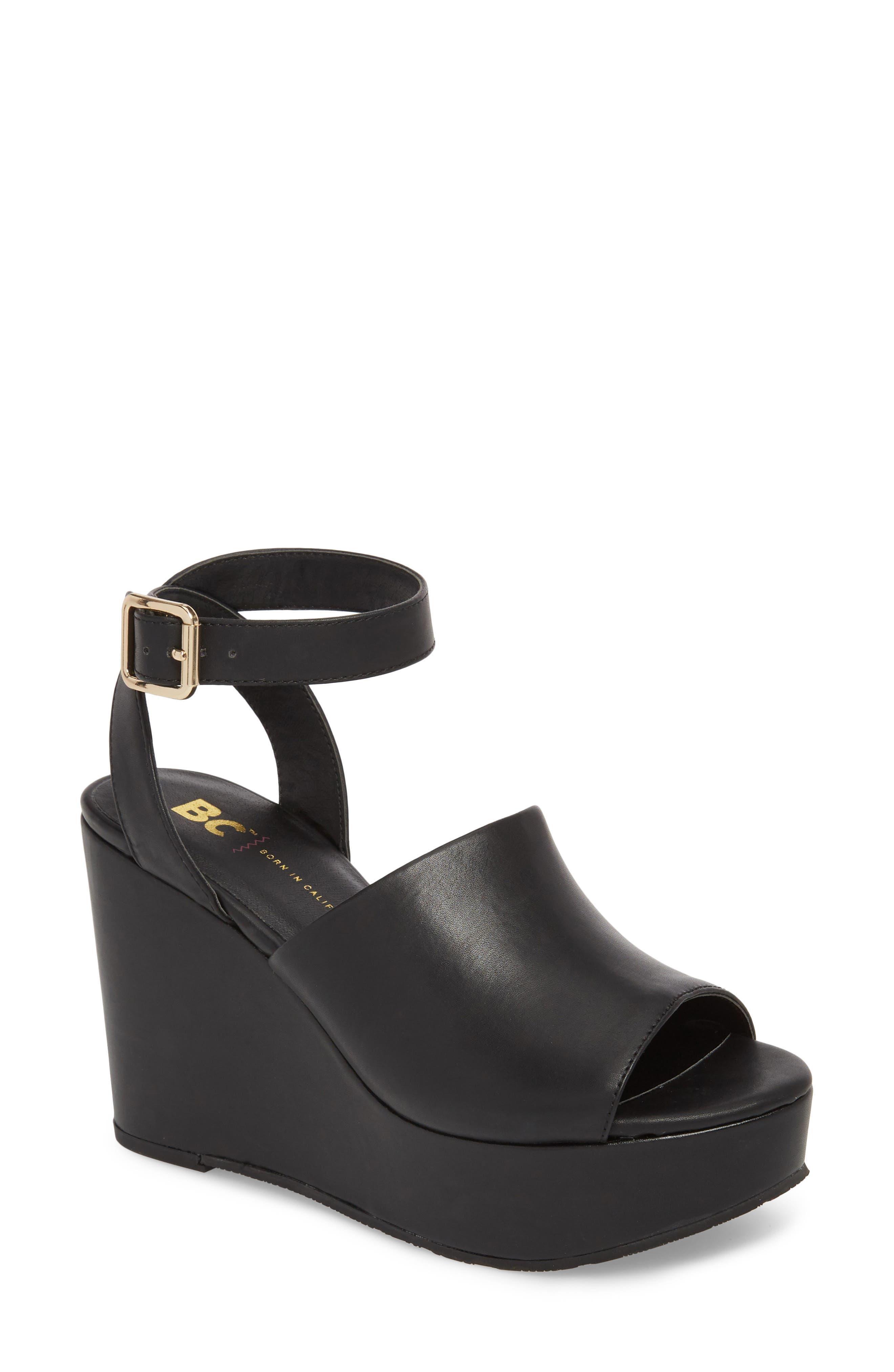 Admit One Platform Wedge Sandal,                         Main,                         color,