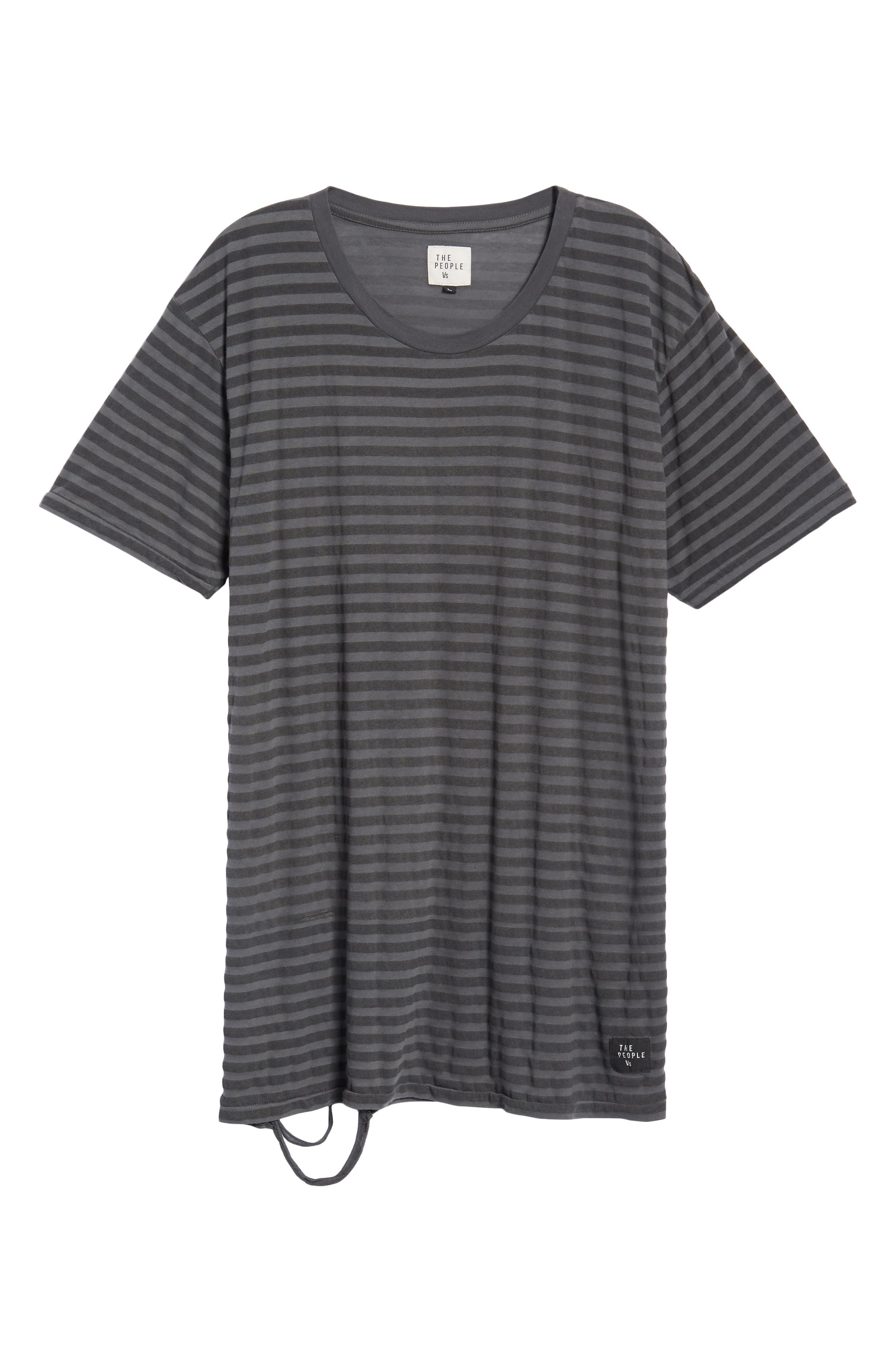 1CM Stripe T-Shirt,                             Alternate thumbnail 6, color,                             KHAKI/ BLACK STRIPE