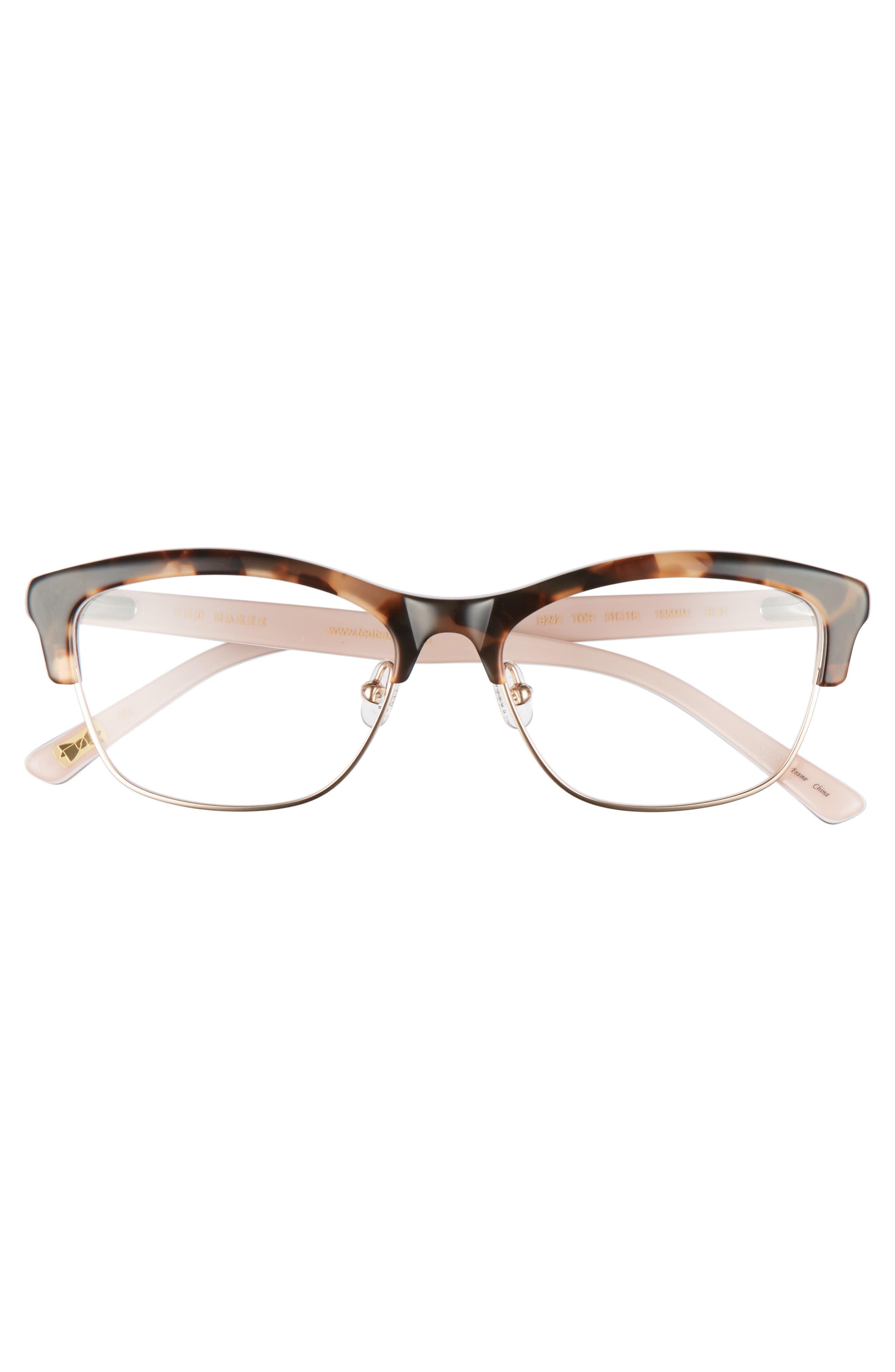 51mm Optical Cat Eye Glasses,                             Alternate thumbnail 3, color,                             200