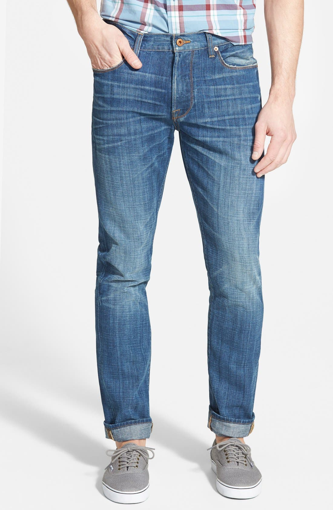 '1 Authentic' Skinny Fit Jeans, Main, color, 420