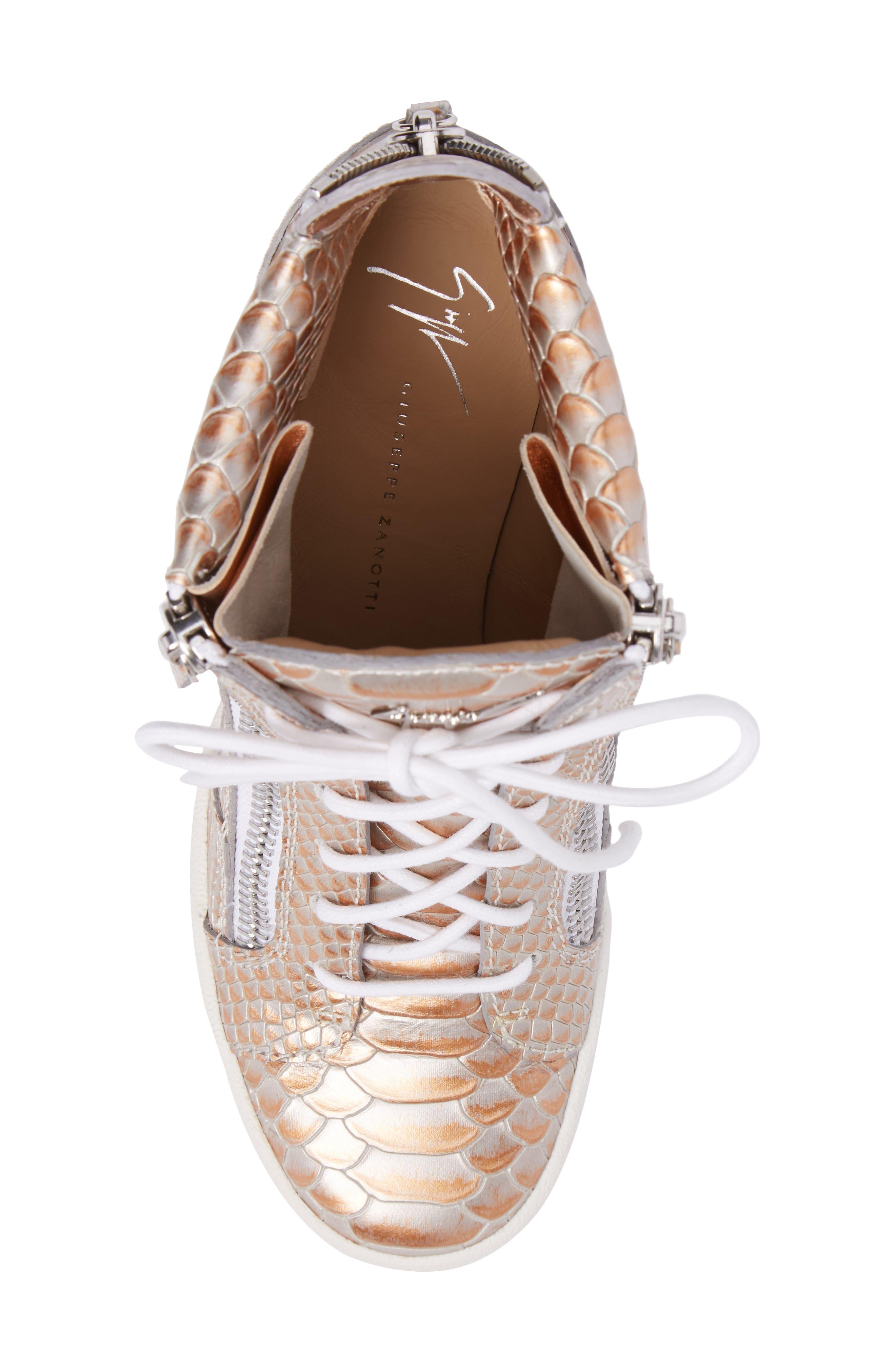 Lamay Lorenz High Top Wedge Sneaker,                             Alternate thumbnail 5, color,                             710