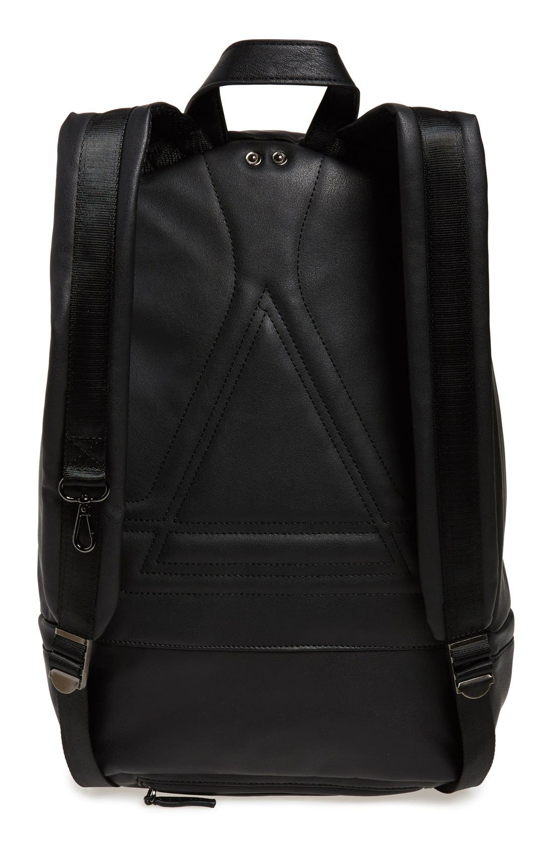 'Karl is My Father' Faux-Leather Backpack with Rain Cover,                             Alternate thumbnail 6, color,                             001
