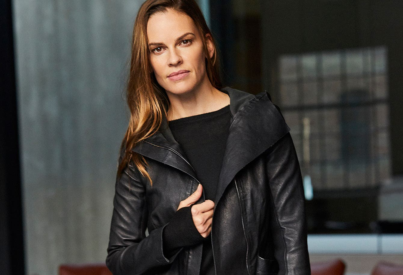 Our interview on a day in the life of Hilary Swank.