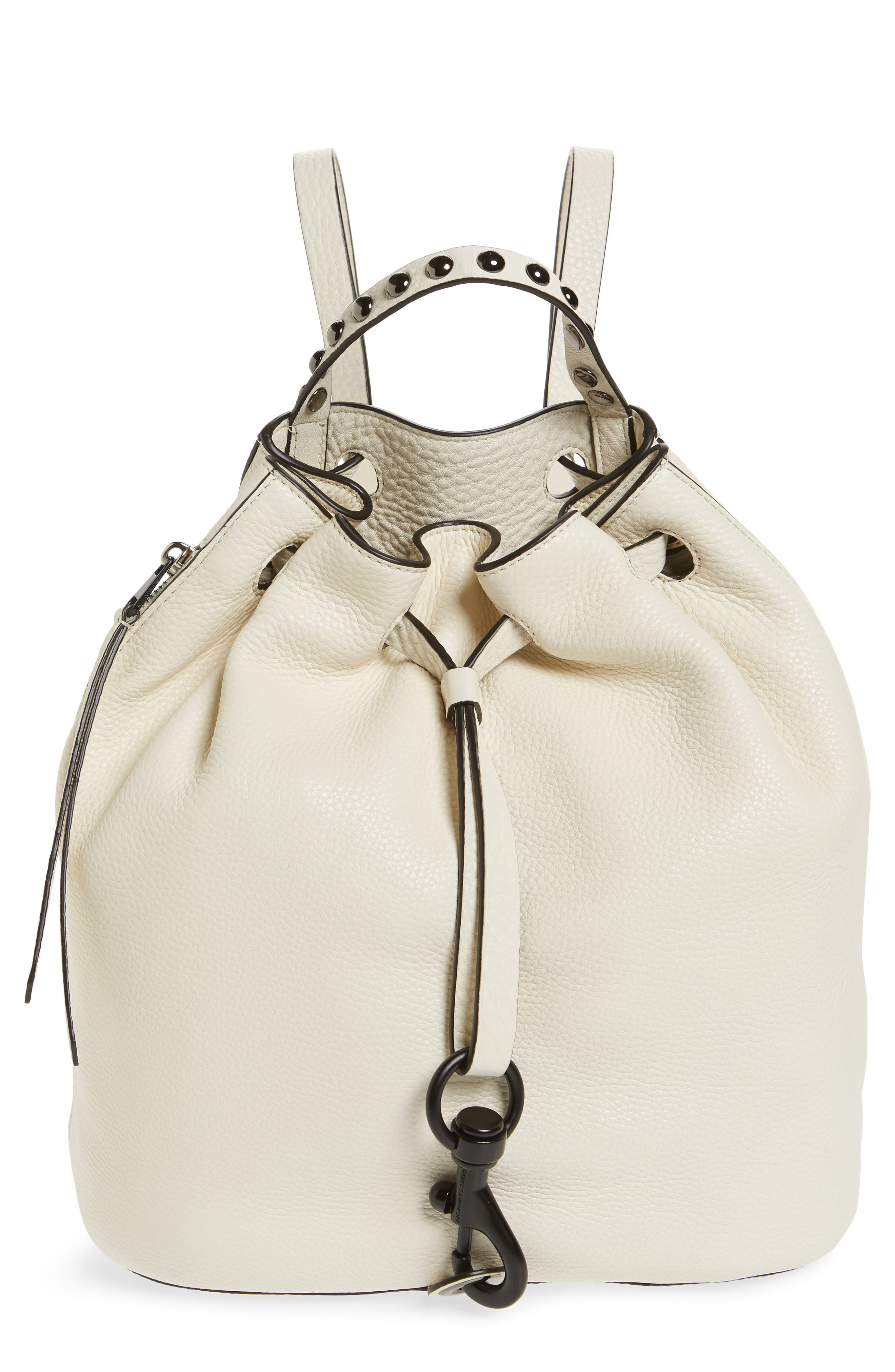 Blythe Leather Backpack,                         Main,                         color, ANTIQUE WHITE