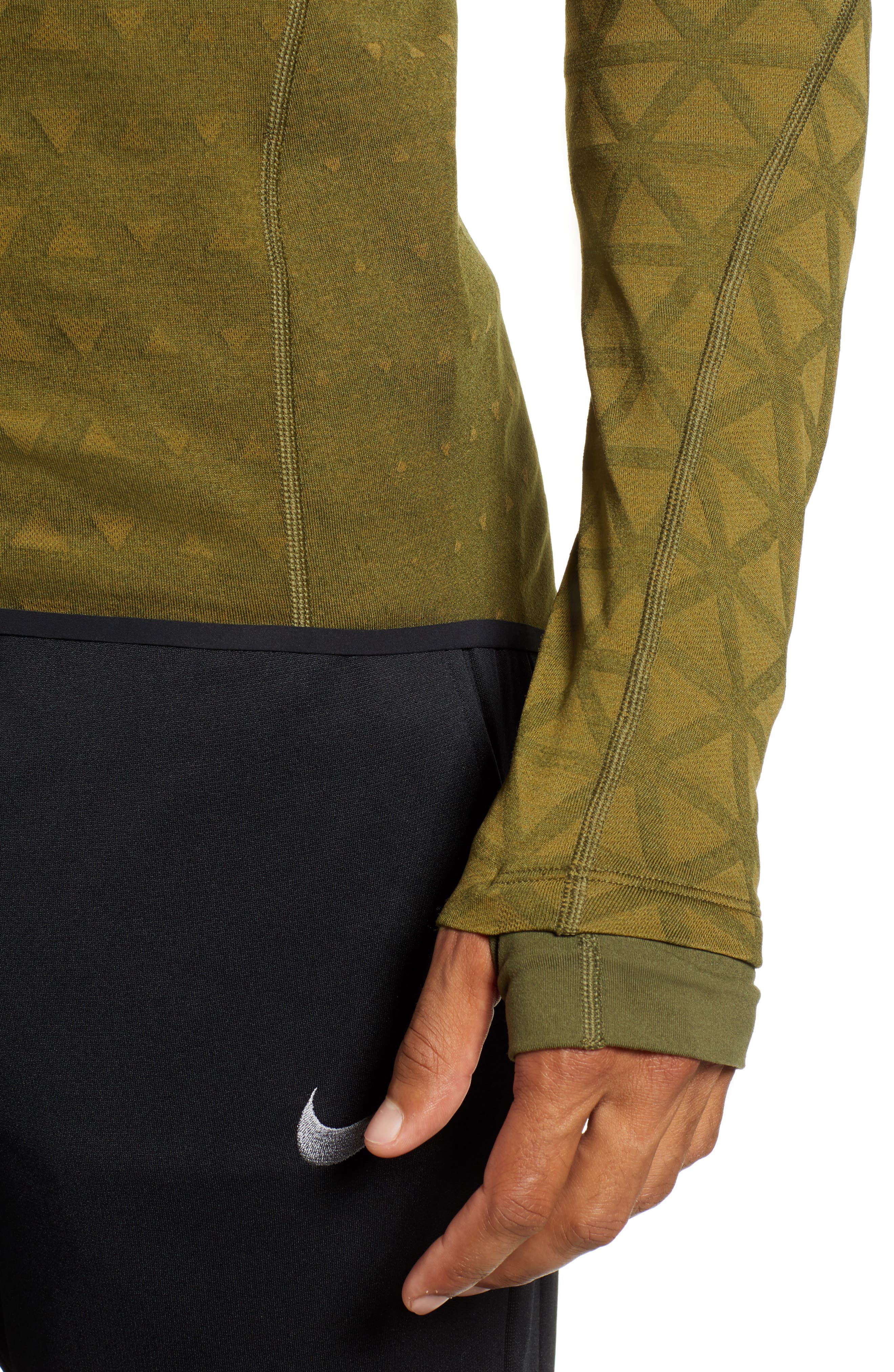 Therma Sphere Hooded Training Top,                             Alternate thumbnail 4, color,                             OLIVE/ OLIVE FLAK/ BLACK
