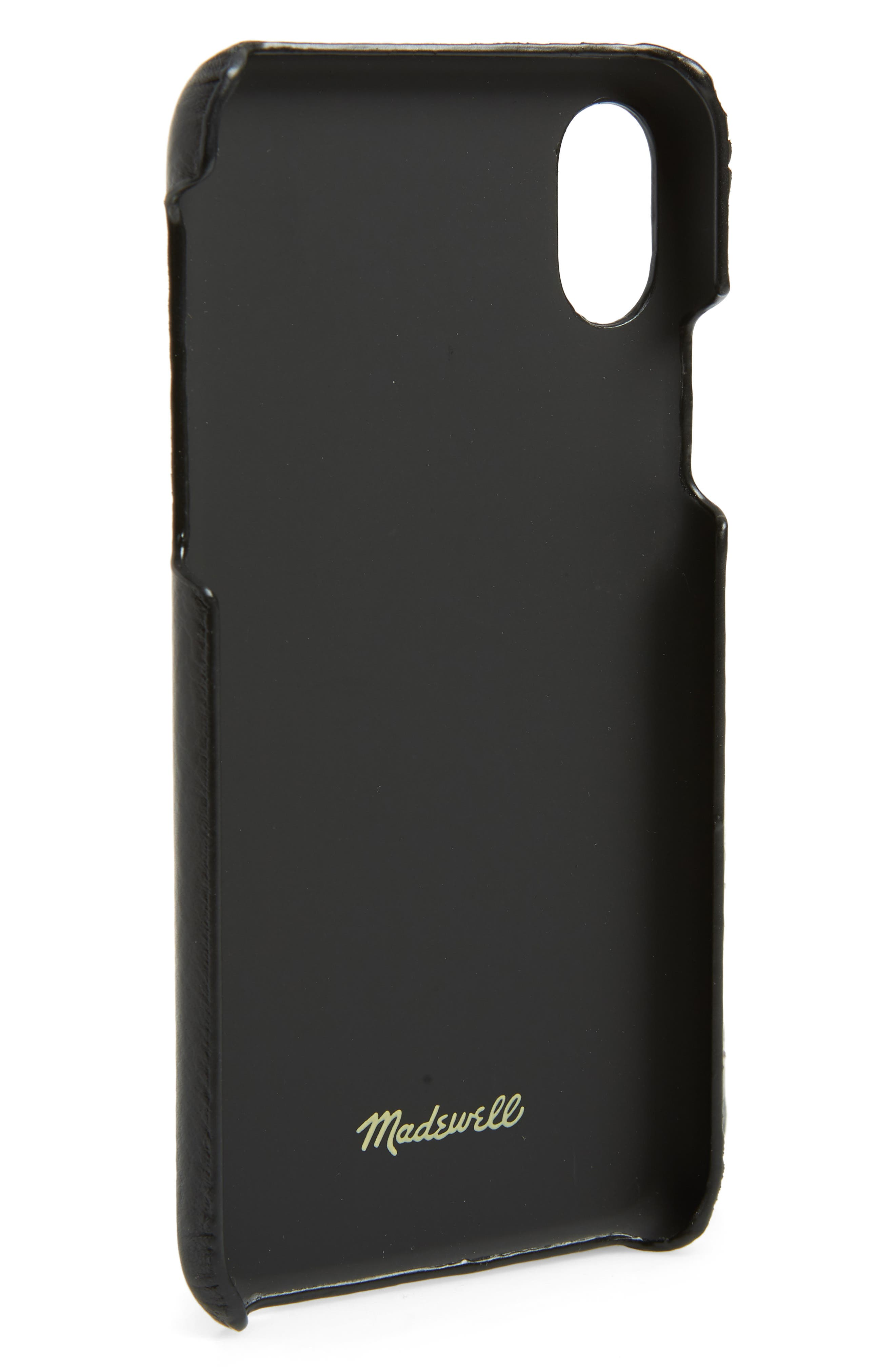MADEWELL,                             Card Slot Leather iPhone X/Xs Case,                             Alternate thumbnail 2, color,                             001