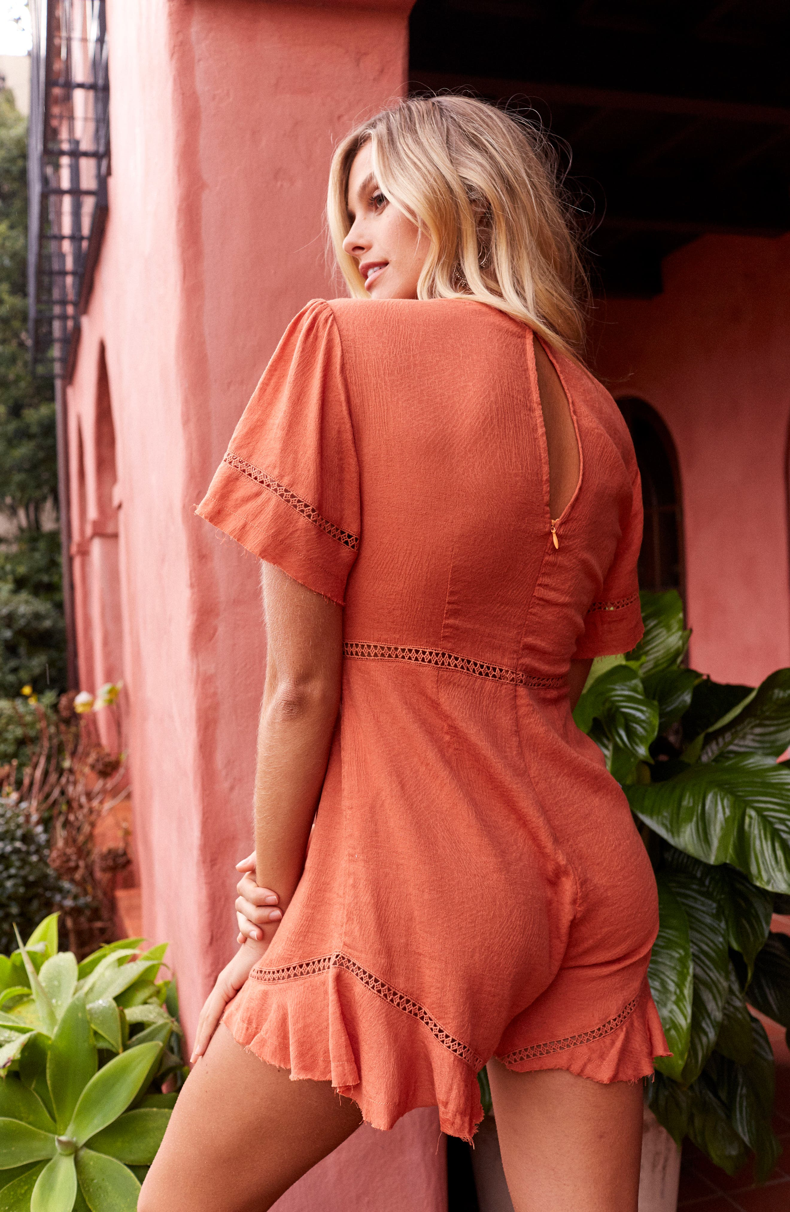 Highway to Highway Fray Edge Romper,                             Alternate thumbnail 7, color,                             950