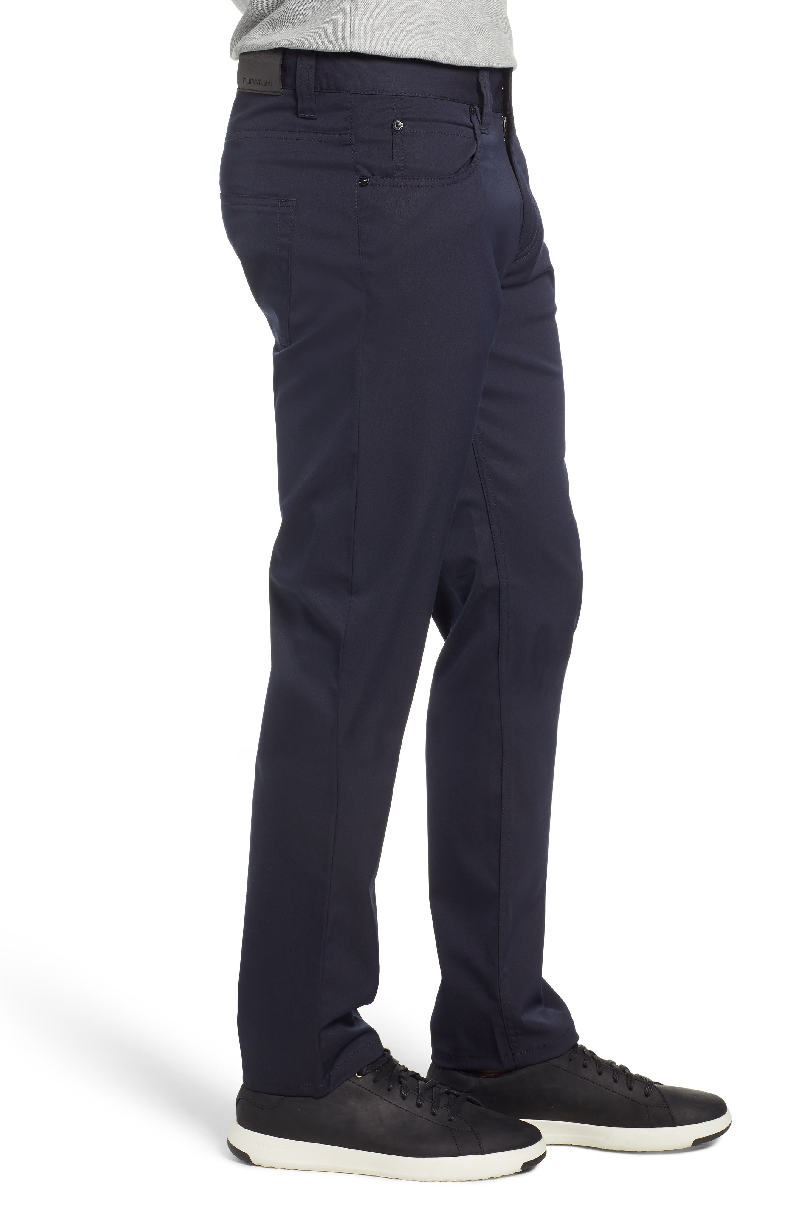 Flat Front Pants,                             Alternate thumbnail 3, color,                             MIDNIGHT