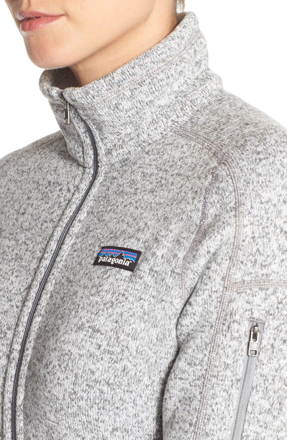 'BetterSweater' Jacket,                             Alternate thumbnail 2, color,                             BIRCH WHITE