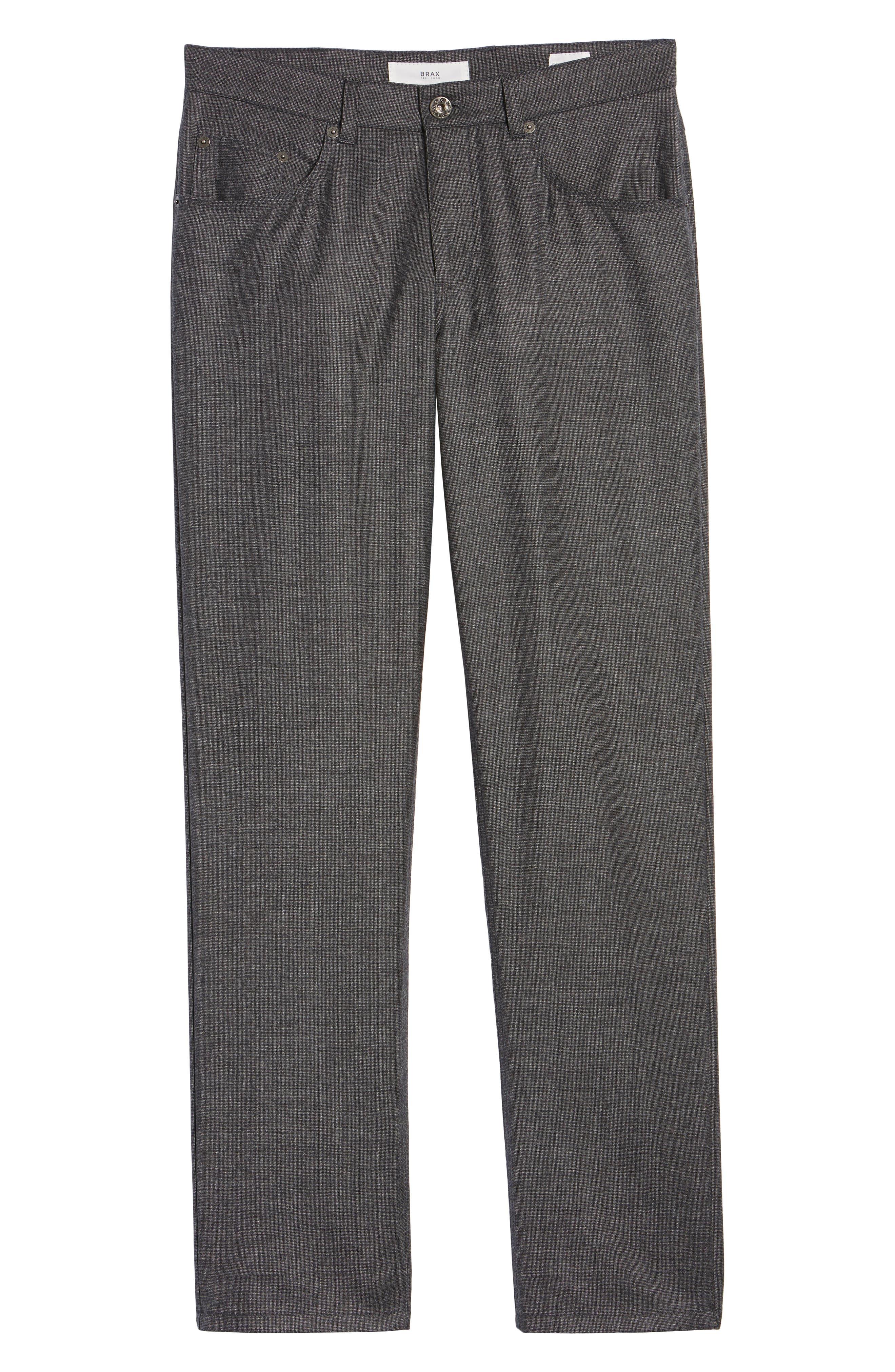 Cadiz Five Pocket Stretch Wool Trousers,                             Alternate thumbnail 6, color,                             GRAPHITE