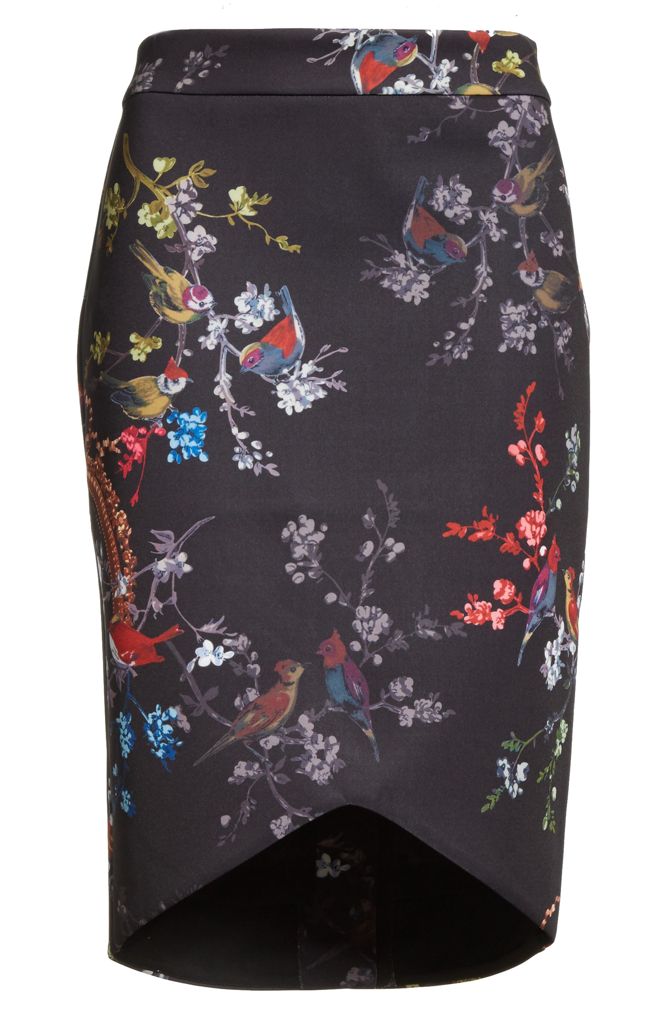 Opulent Fauna Pencil Skirt,                             Alternate thumbnail 6, color,