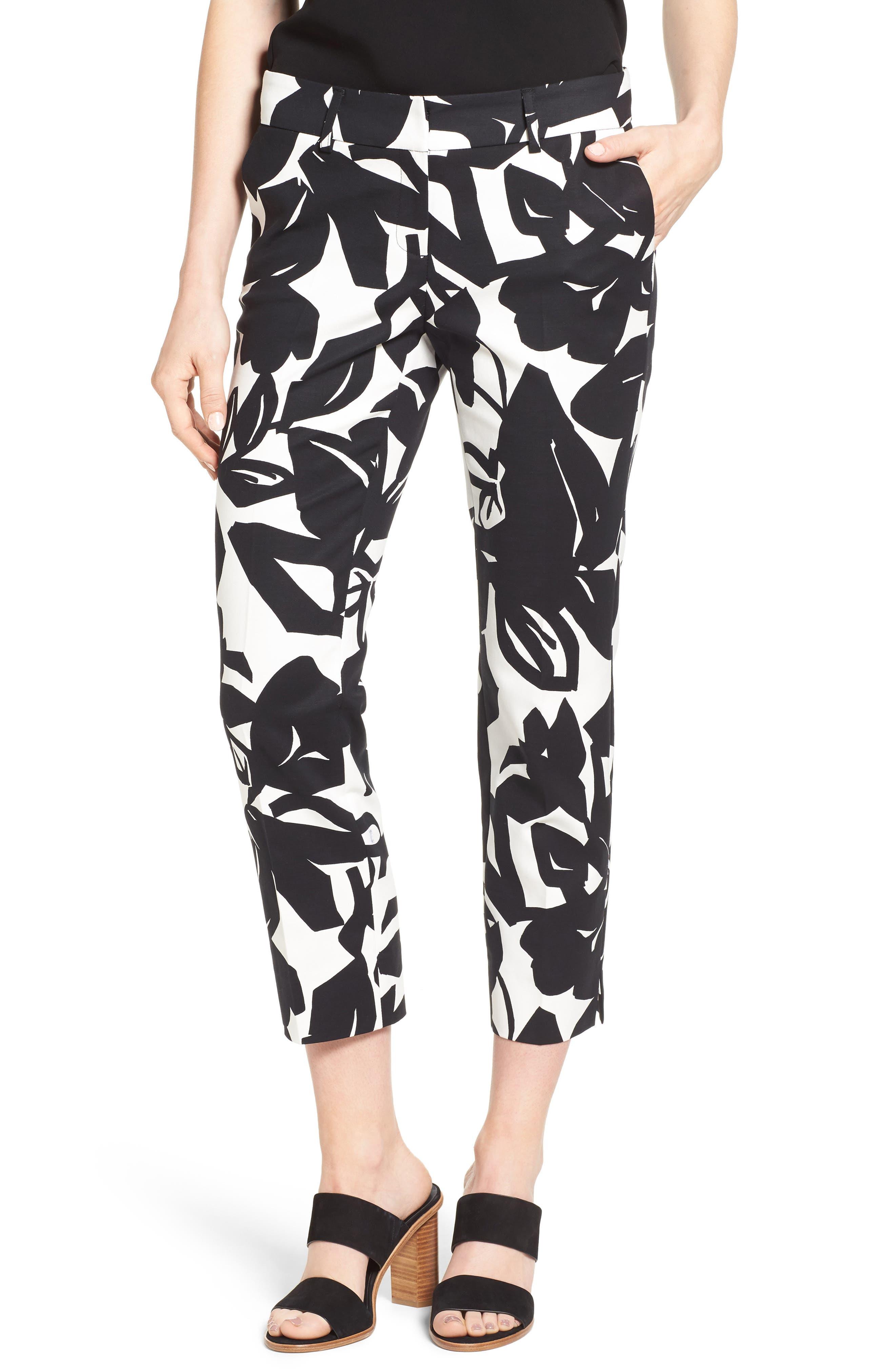 Crop Stretch Cotton Pants,                             Main thumbnail 22, color,