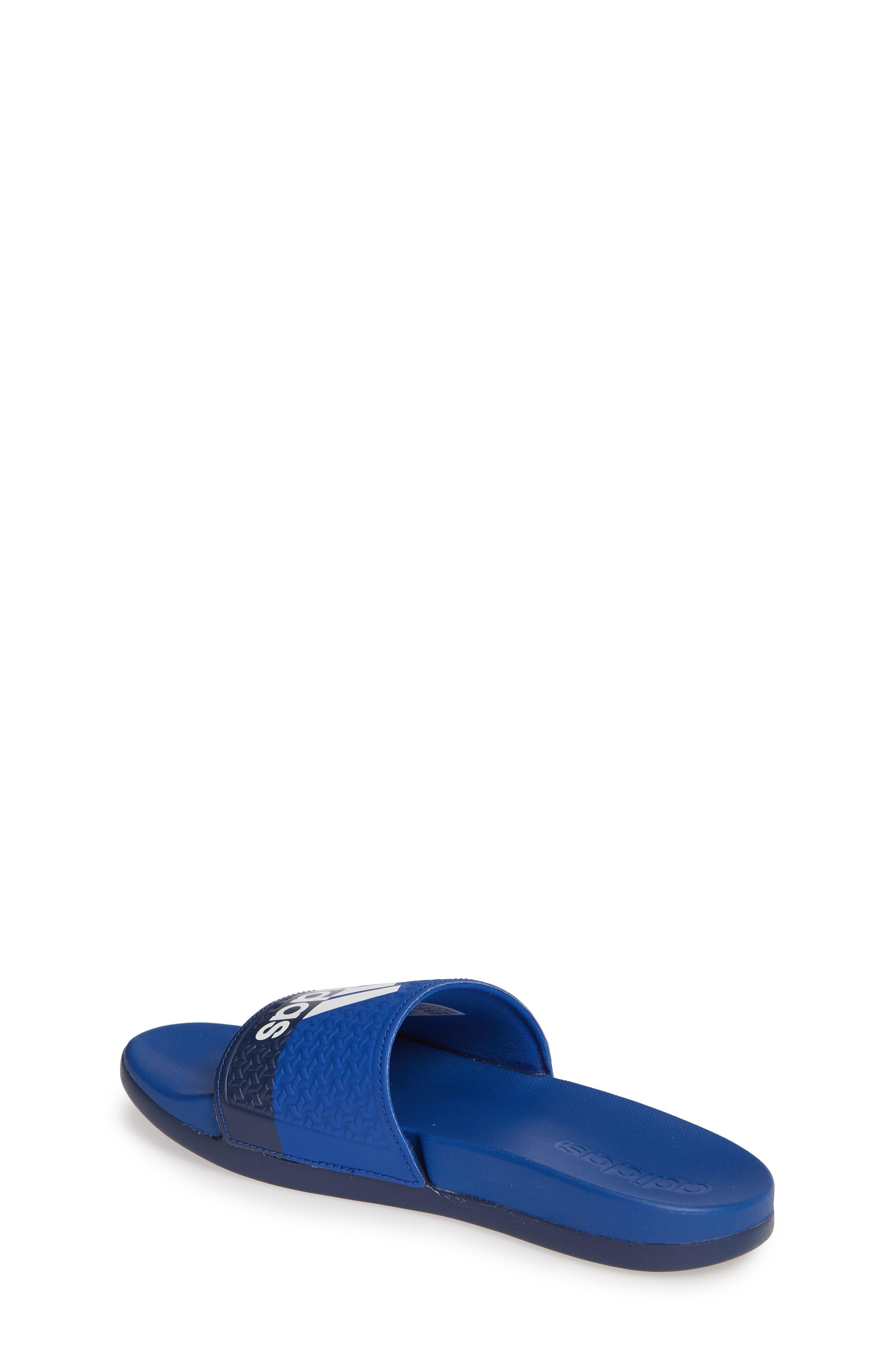 Adilette Slide Sandal,                             Alternate thumbnail 2, color,                             COLLEGIATE ROYAL/ WHITE/ BLUE