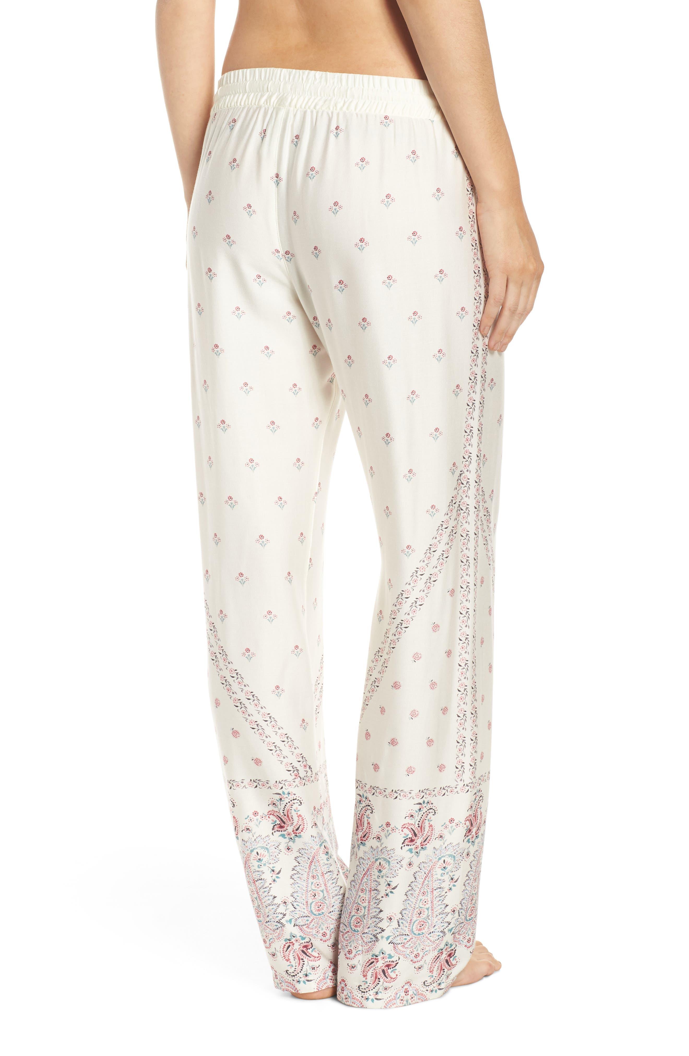 Paisley Park Pajama Pants,                             Alternate thumbnail 2, color,                             ANTIQUE WHITE