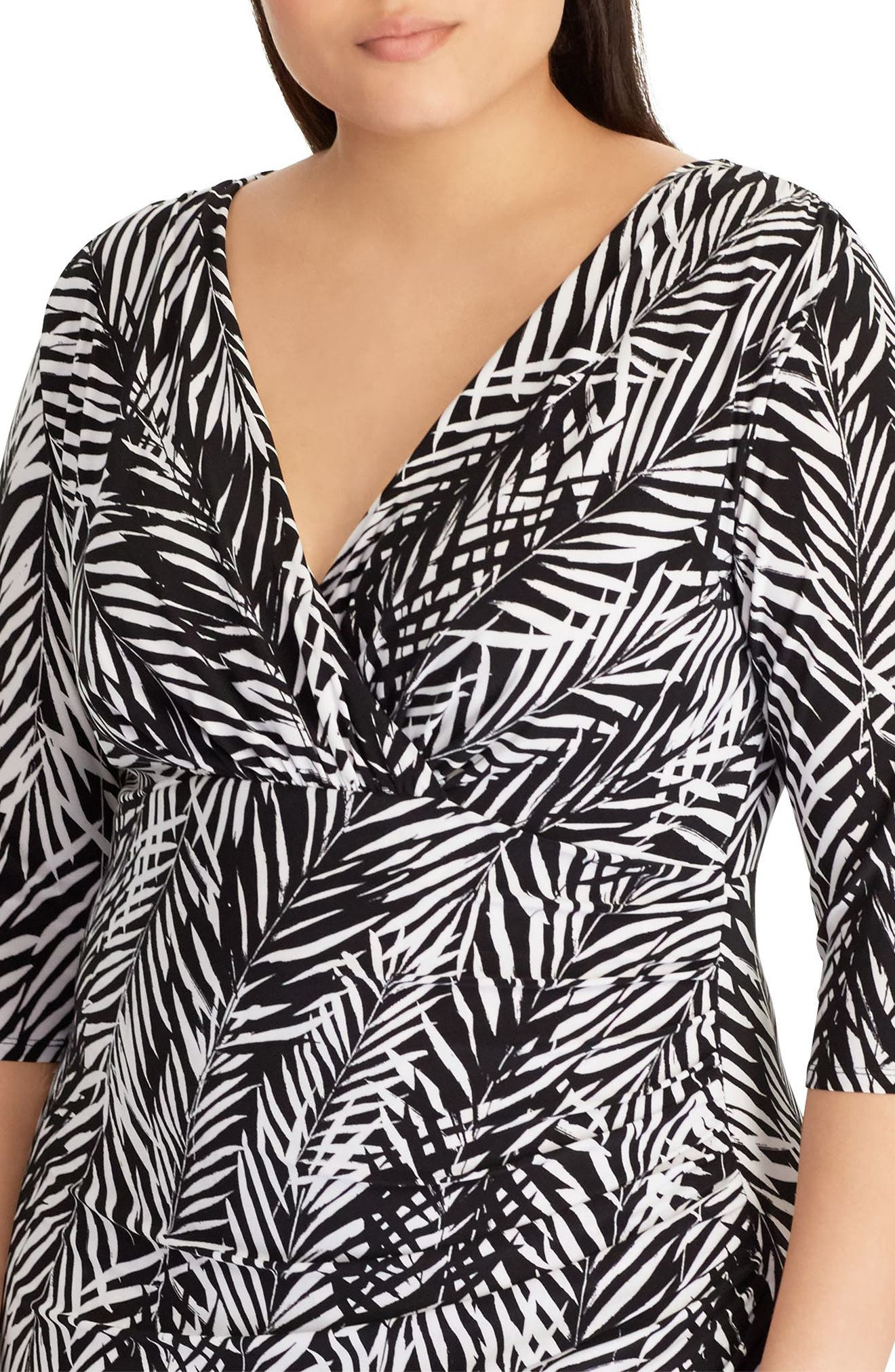 Zebra Twigs Sheath Dress,                             Alternate thumbnail 3, color,                             001