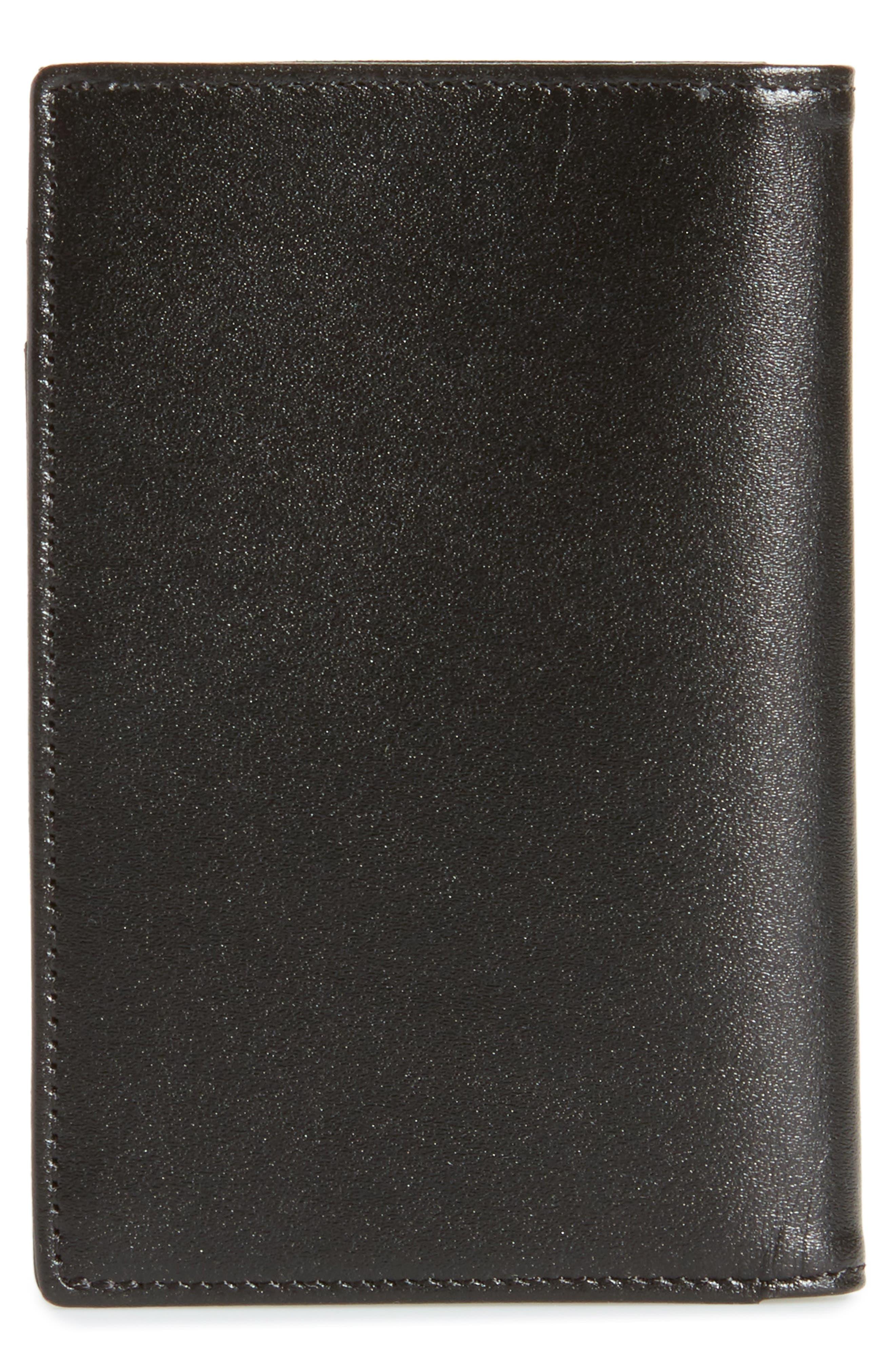 Meisterstück Leather Card Case,                             Alternate thumbnail 3, color,                             BLACK