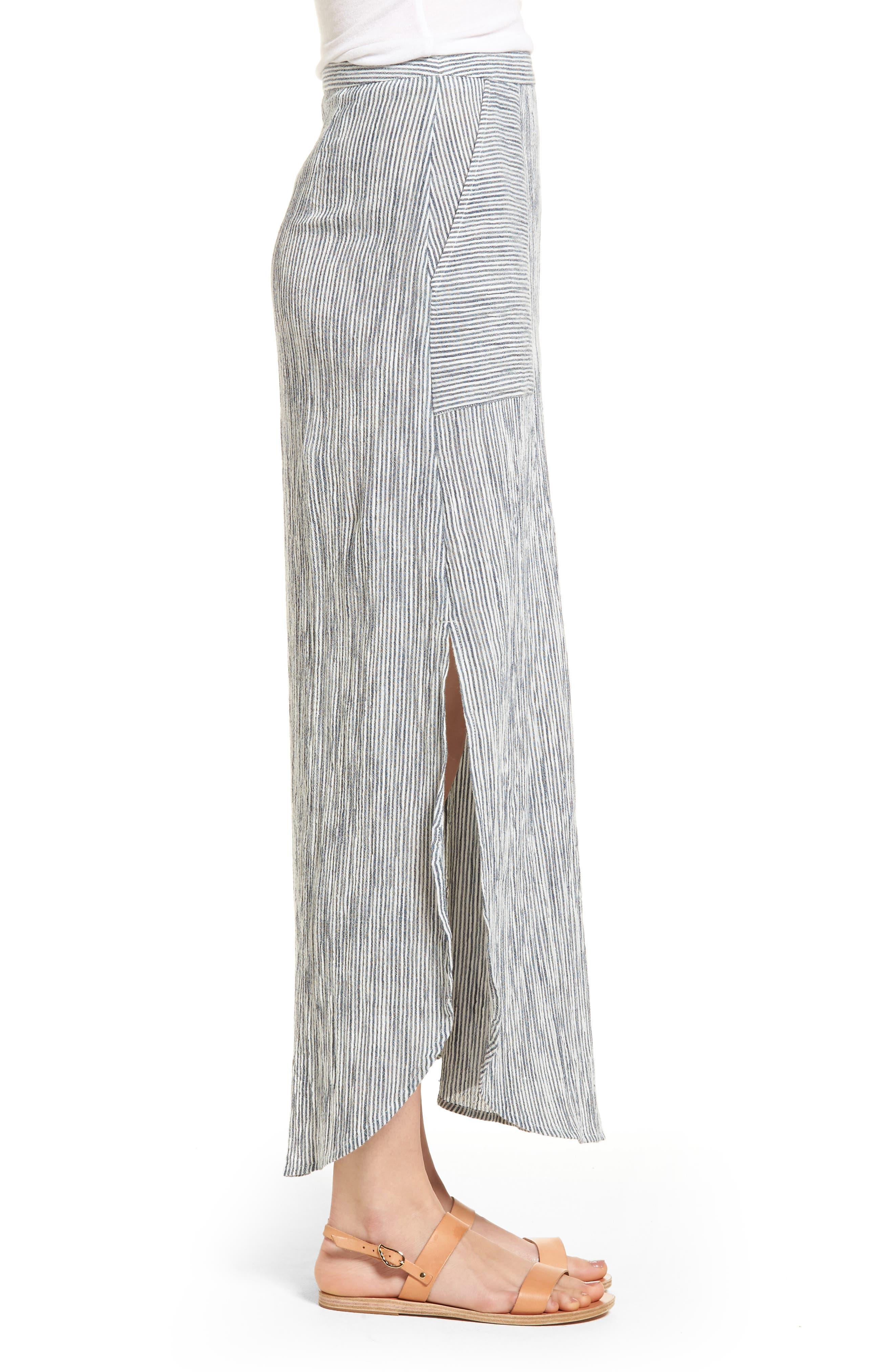 Sunset Islands Pinstripe Maxi Skirt,                             Alternate thumbnail 3, color,                             101