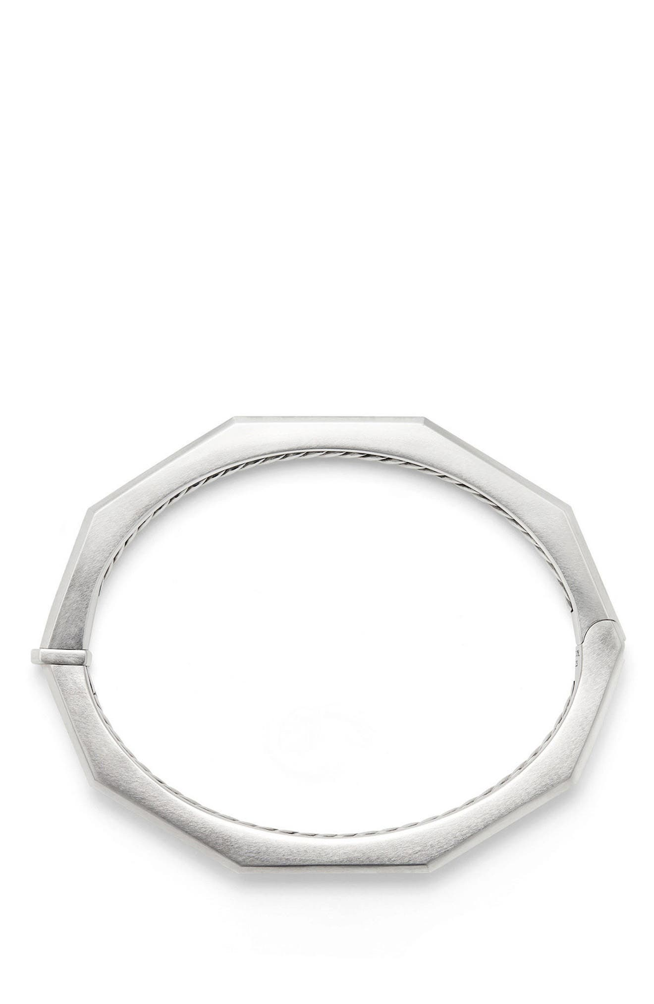Stax Faceted Bracelet with Diamonds,                             Alternate thumbnail 2, color,                             SILVER