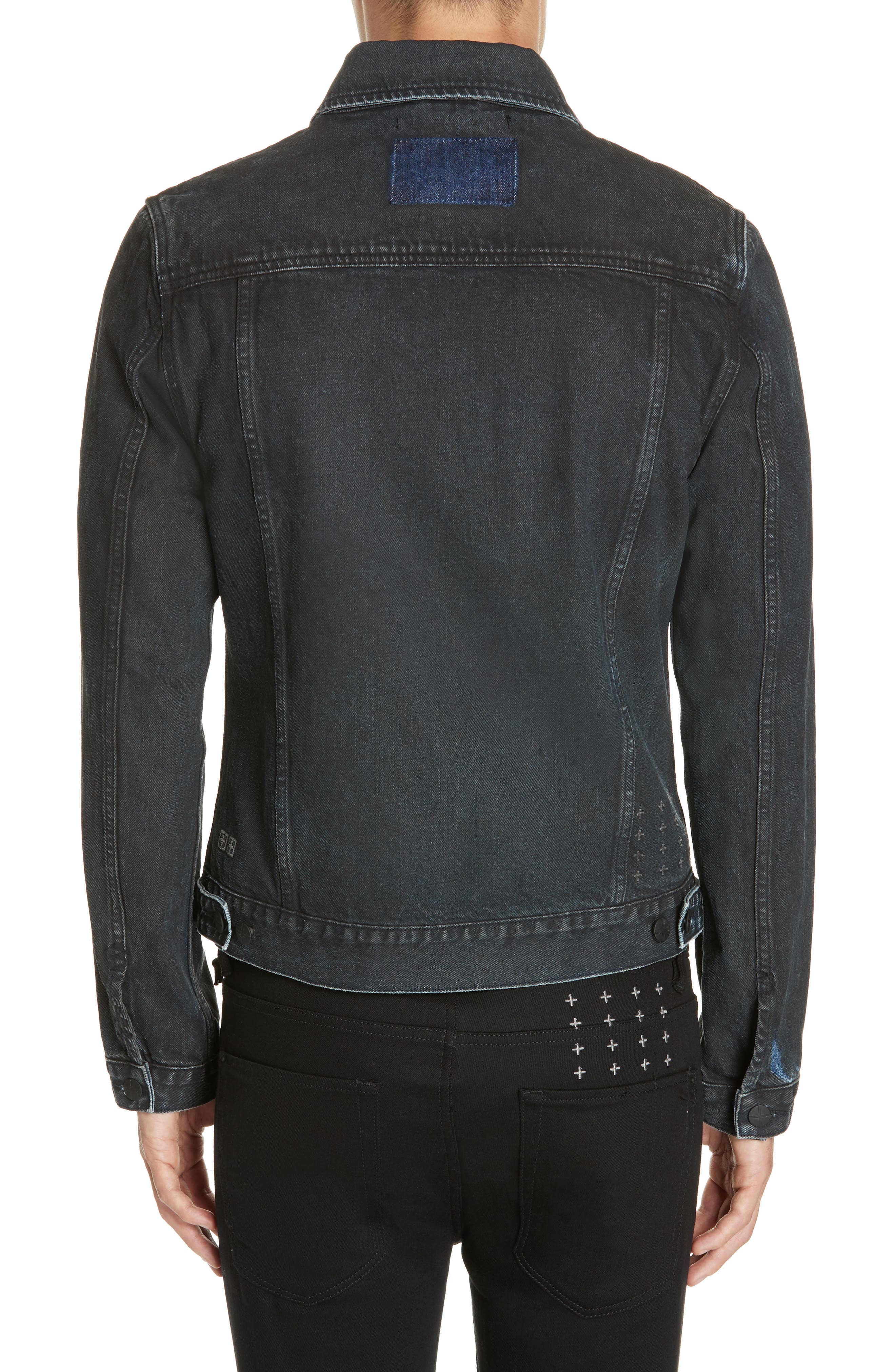 KSUBI,                             Classic Denim Jacket,                             Alternate thumbnail 2, color,                             BLACK TOP