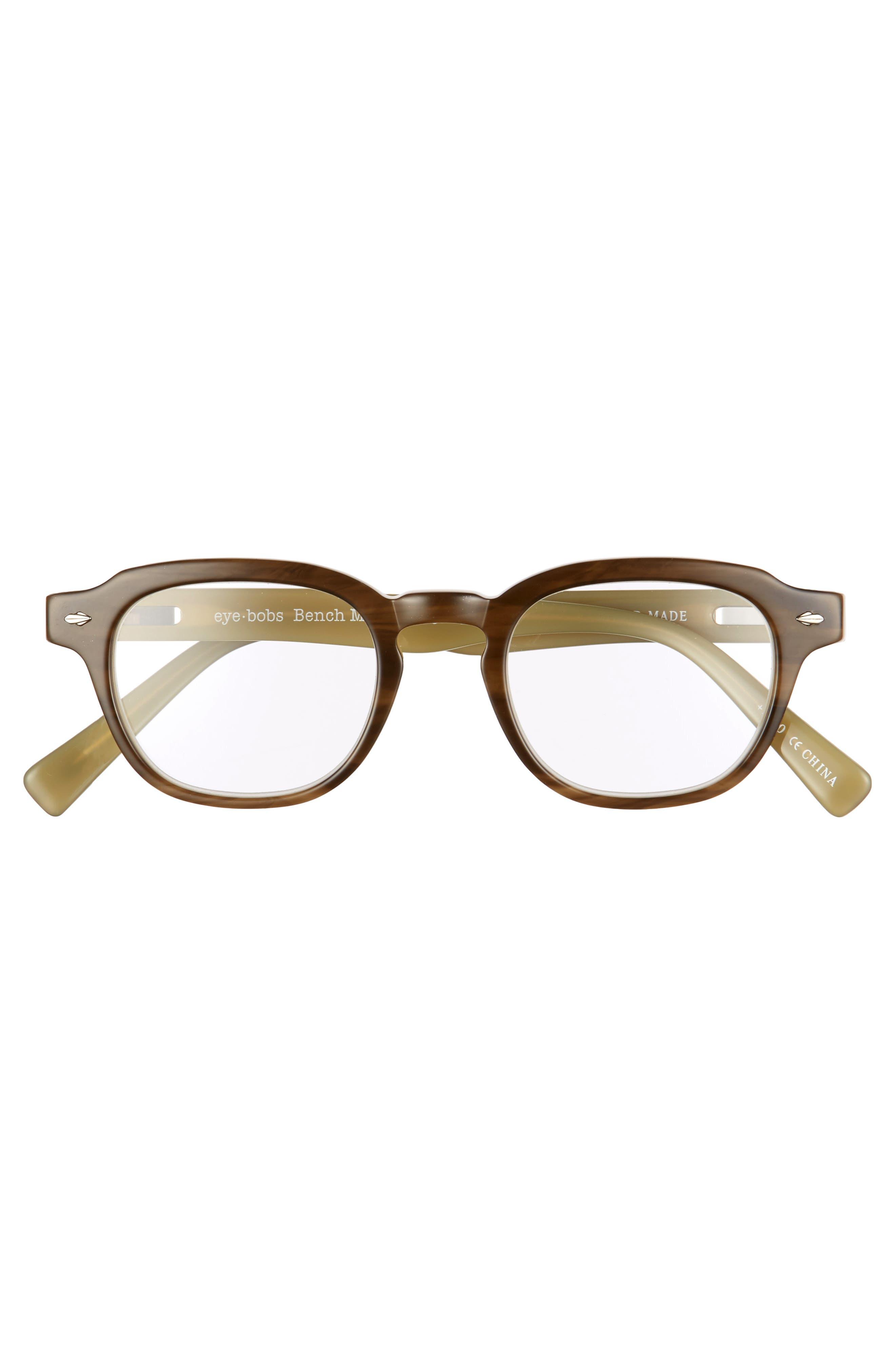 Bench Mark 46mm Reading Glasses,                             Alternate thumbnail 2, color,                             KHAKI GREEN