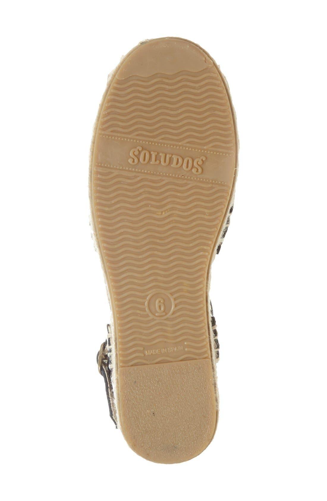 Huarache Platform Sandal,                             Alternate thumbnail 2, color,                             001