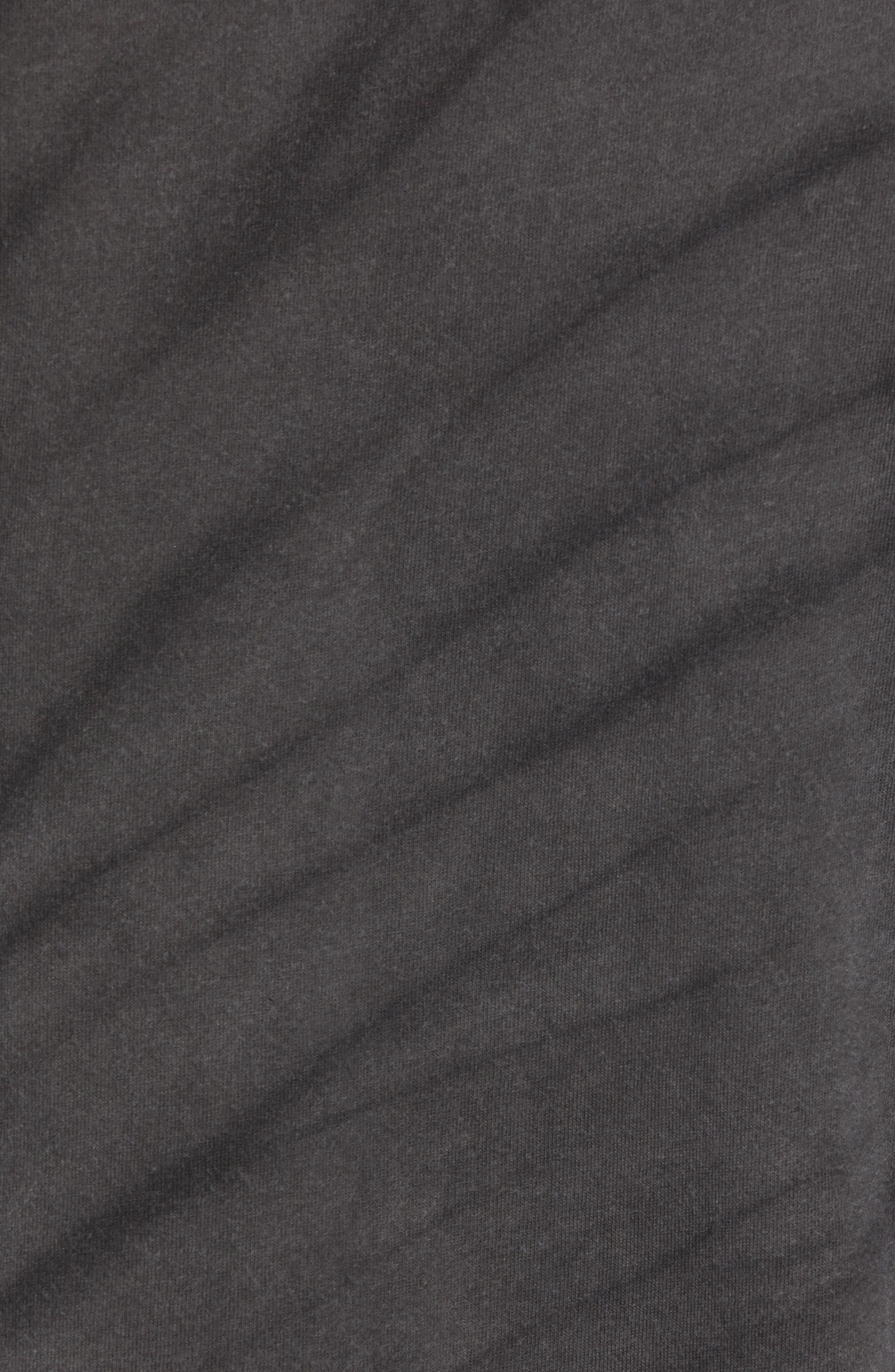 Tie Dye Logo T-Shirt,                             Alternate thumbnail 5, color,                             BLACK