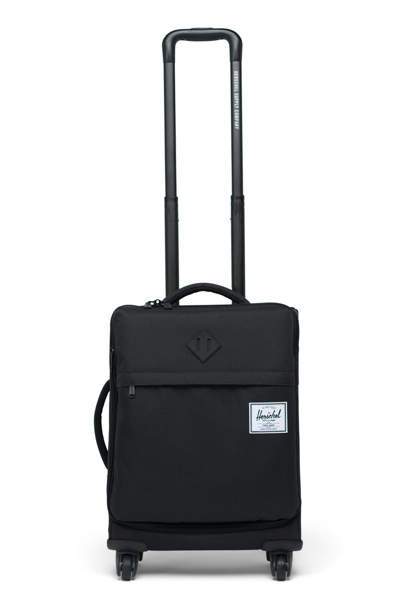 HERSCHEL SUPPLY CO.,                             Highland 22-Inch Spinner Carry-On,                             Main thumbnail 1, color,                             BLACK