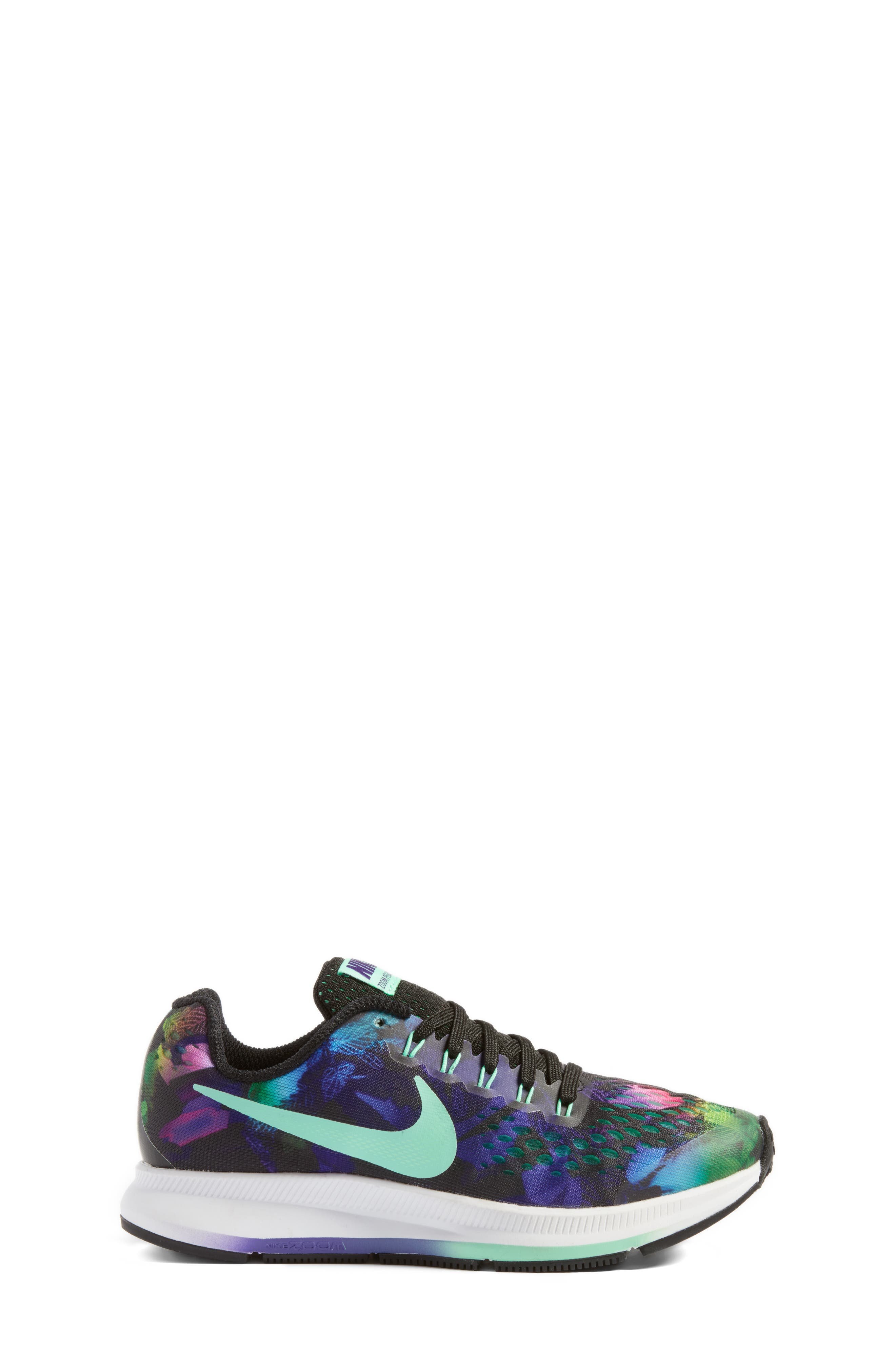 Zoom Pegasus 34 Print Sneaker,                             Alternate thumbnail 3, color,                             001
