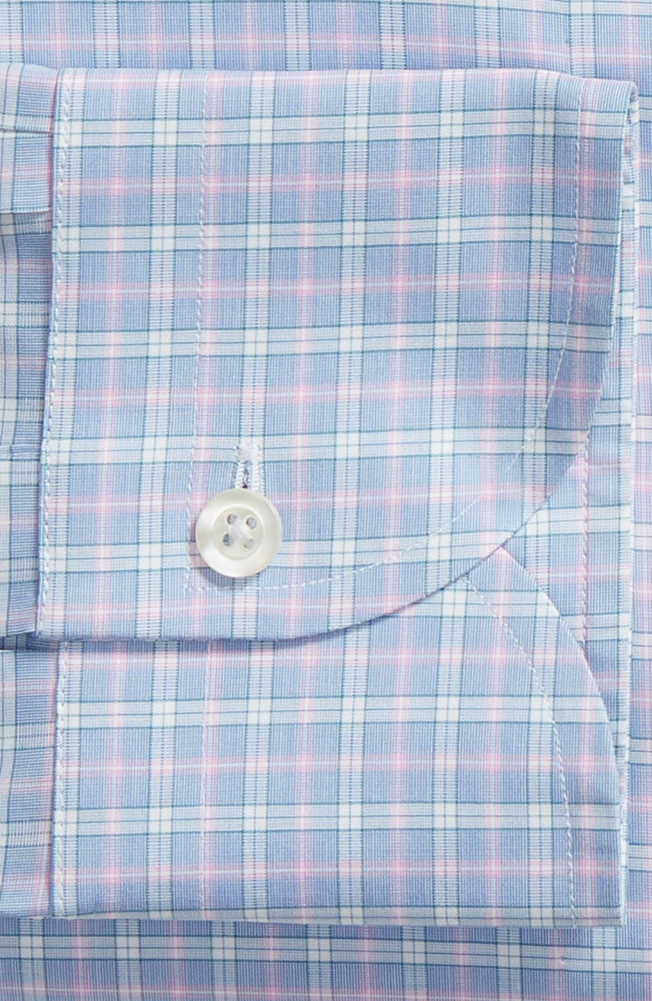 Ferris Slim Fit Check Dress Shirt,                             Alternate thumbnail 6, color,                             LIGHT/ PASTEL BLUE