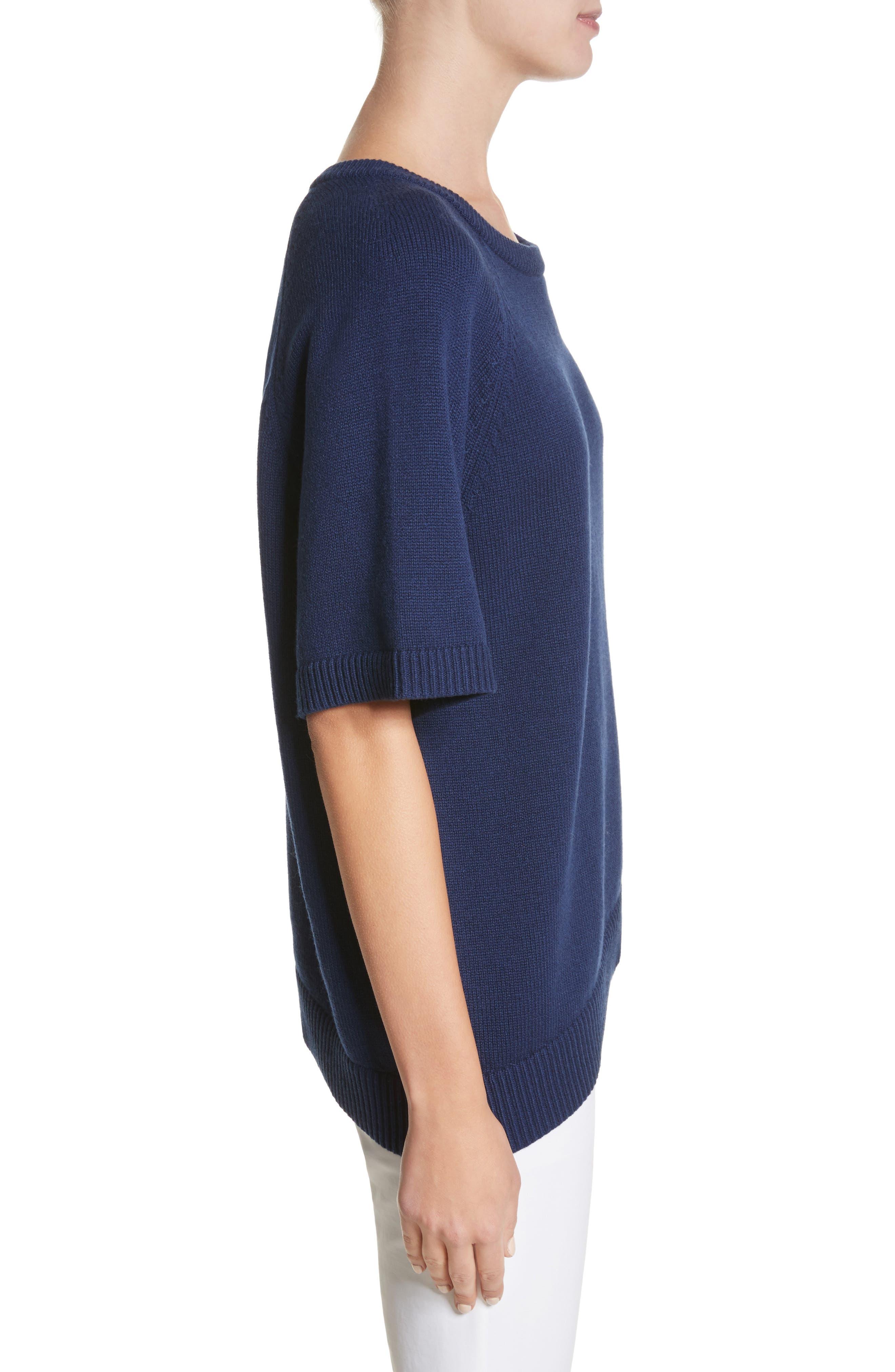 Asymmetrical Cashmere Pullover,                             Alternate thumbnail 3, color,                             489